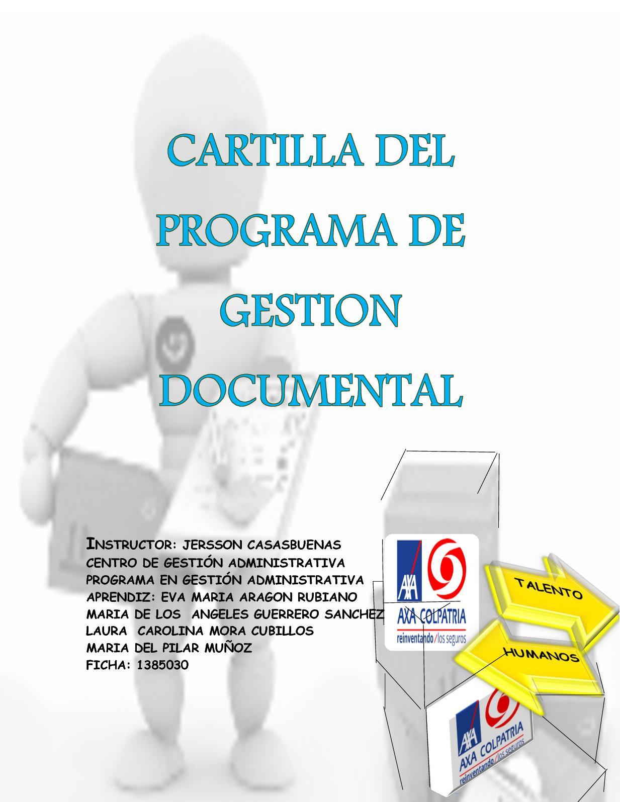 CARTILLA ORGANIZAR DOCUMENTOS