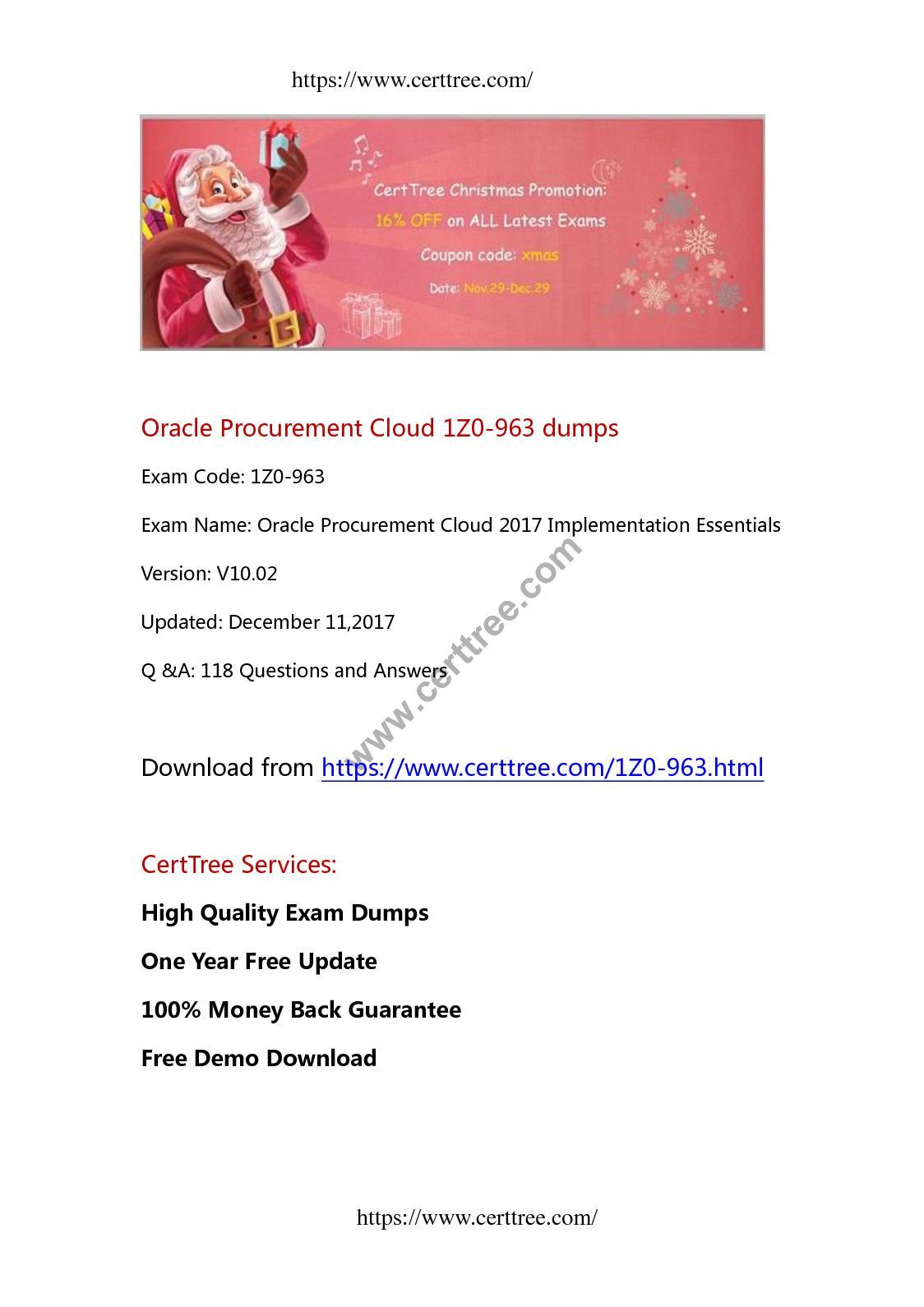 Calamo Oracle Procurement Cloud 1z0 963 Dumps