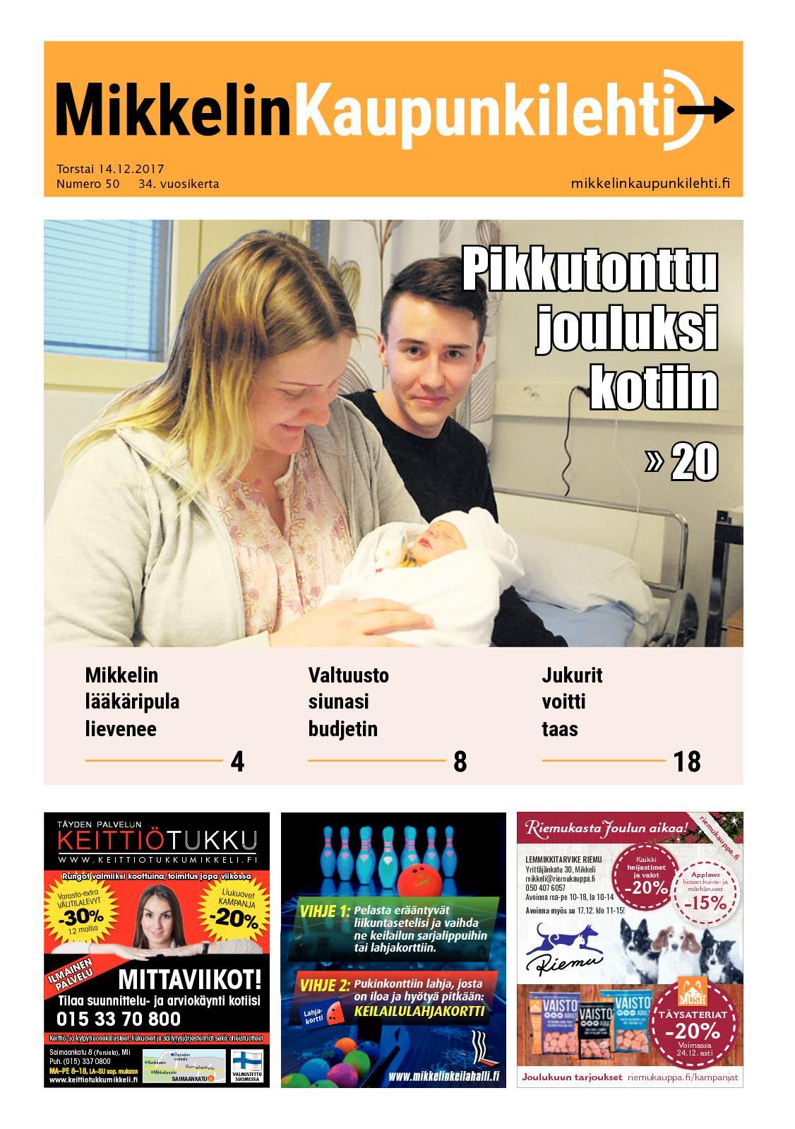 Calaméo - Mikkelin Kaupunkilehti 50 2017 e832698b35