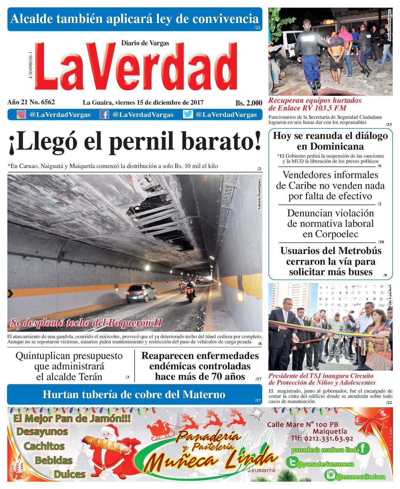 Calaméo - La Guaira, viernes 15 de diciembre de 2017. Año 20 No 6562