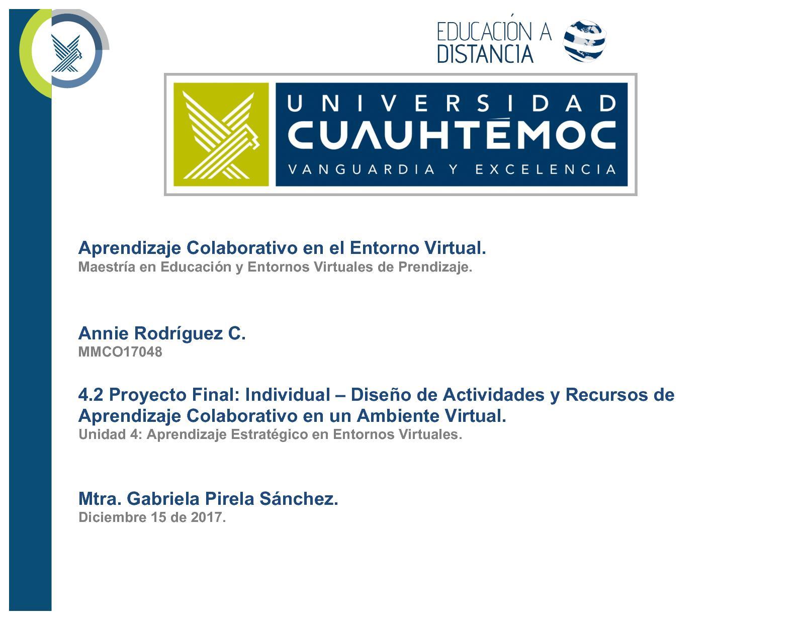 Calaméo - Proyecto Final Actividad Colaborativa