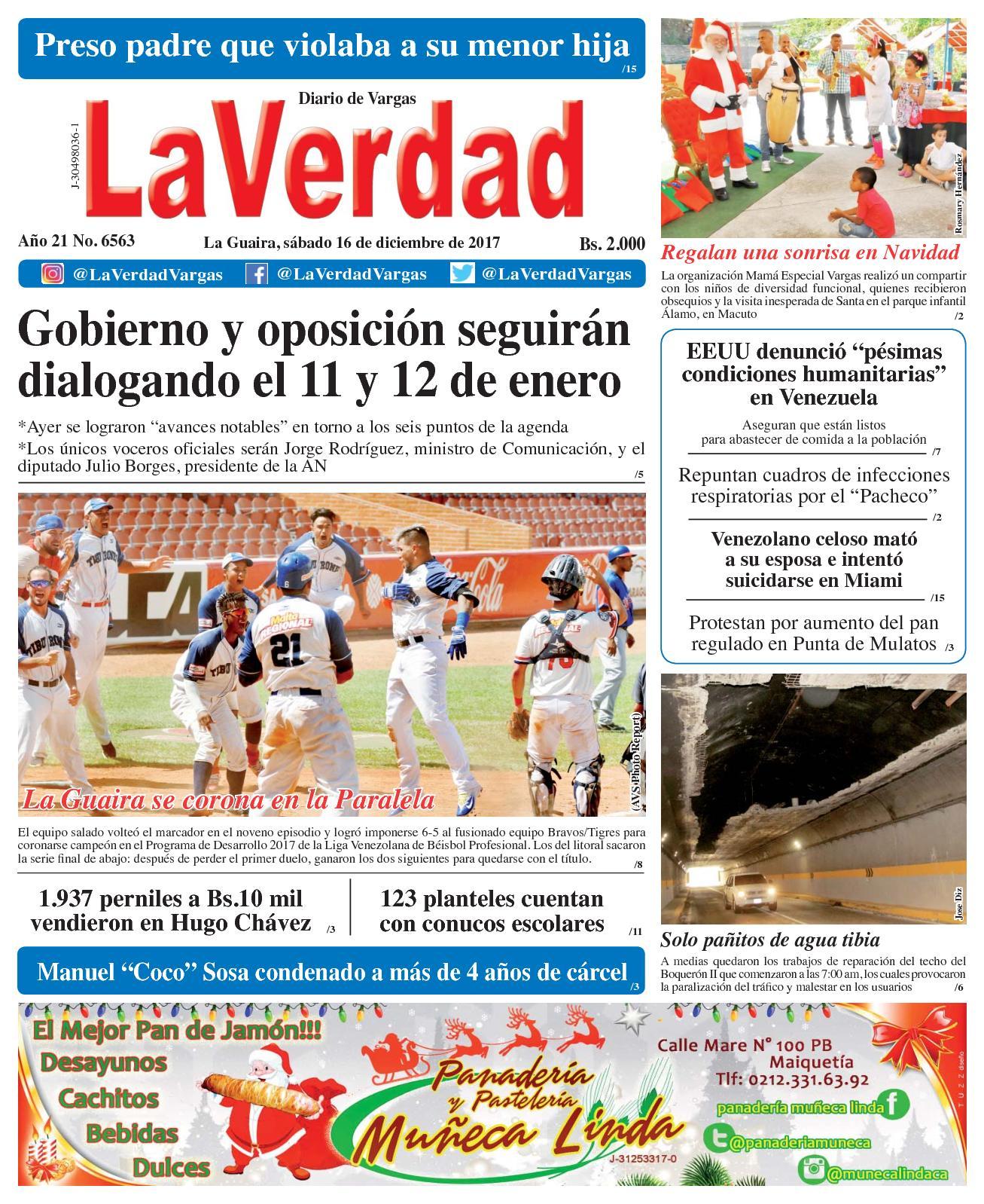 Calaméo - La Guaira, sábado 16 de diciembre de 2017. Año 20 No 6563