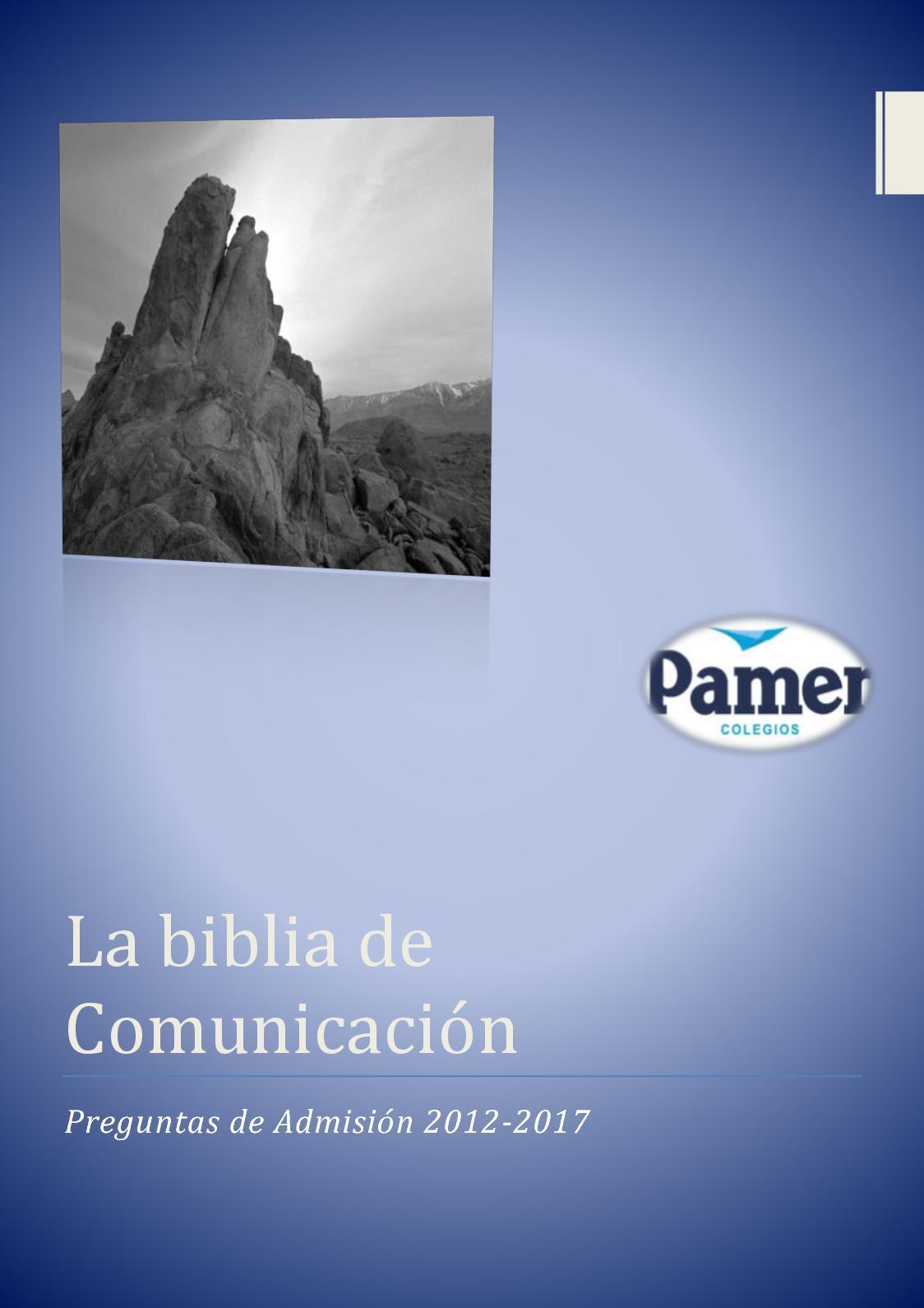 La Biblia De Comunicación
