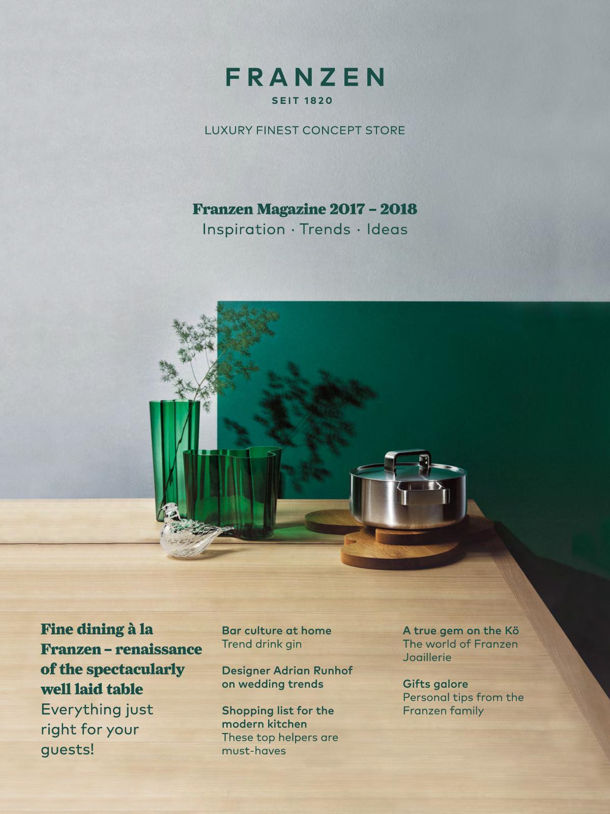 Franzen magazine 2017 2018 catalog