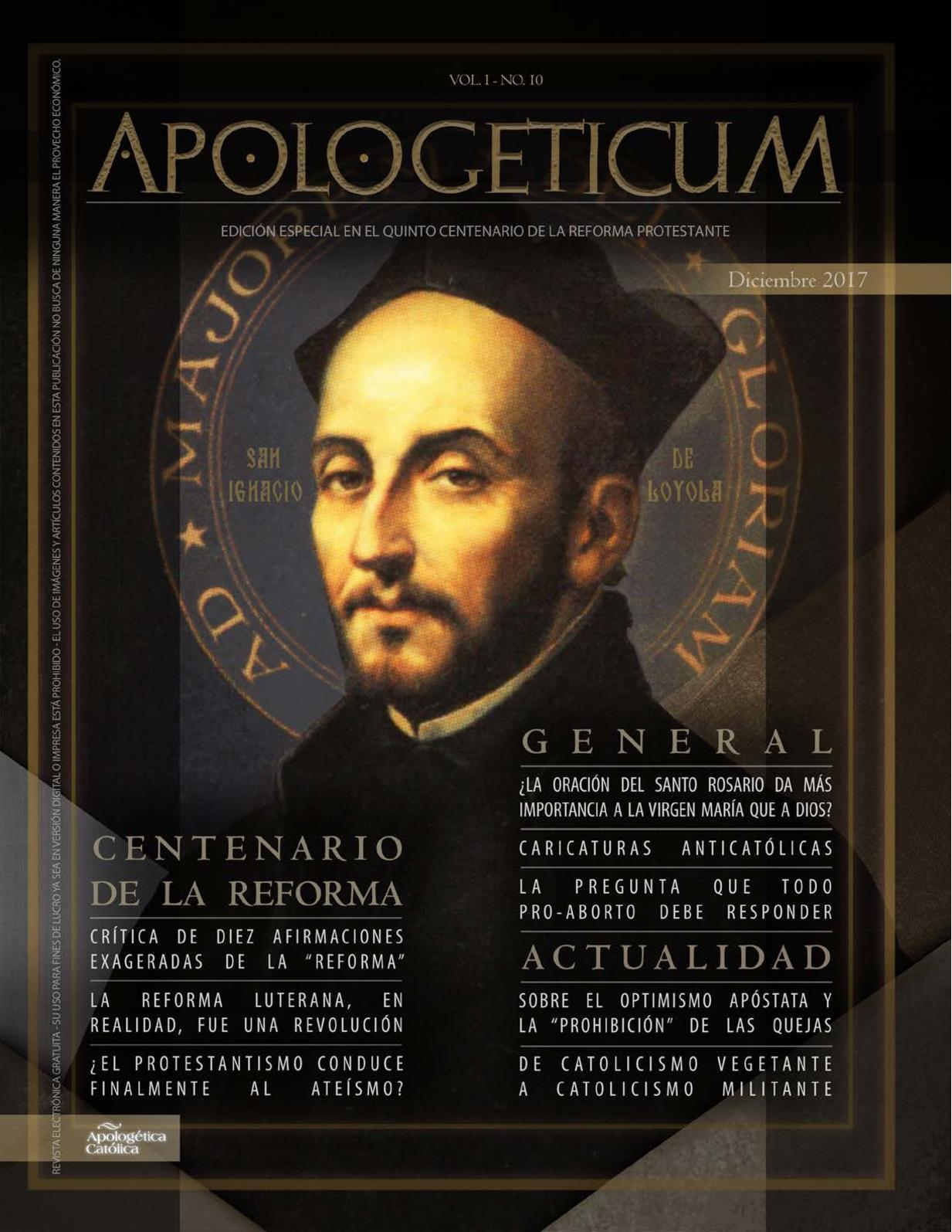 Revista Católica Apologeticum - N.10 - Diciembre 2017
