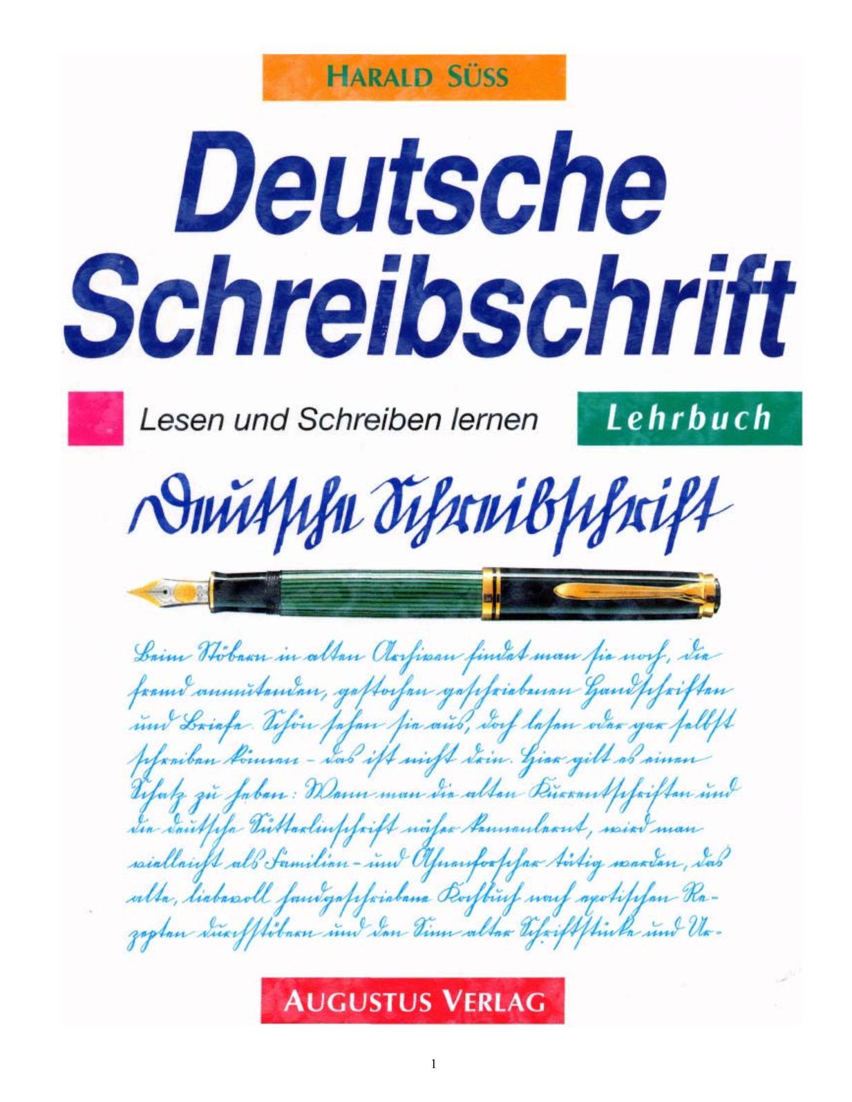 Calaméo - Deutsche Schreibschrift, Lehrbuch
