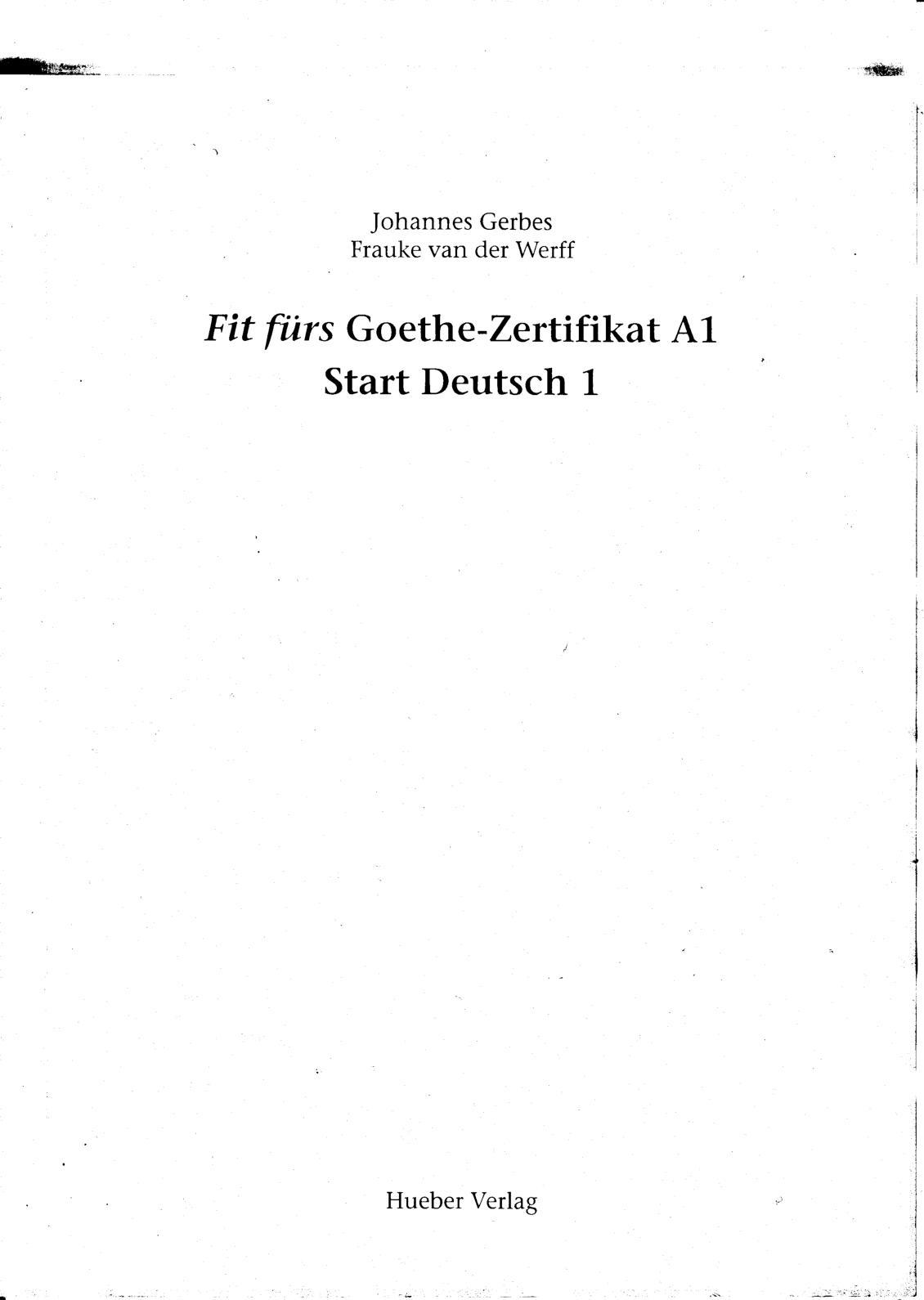 Calaméo Fit Fürs Goethe Zertifikat A1 Start Deutsch 1