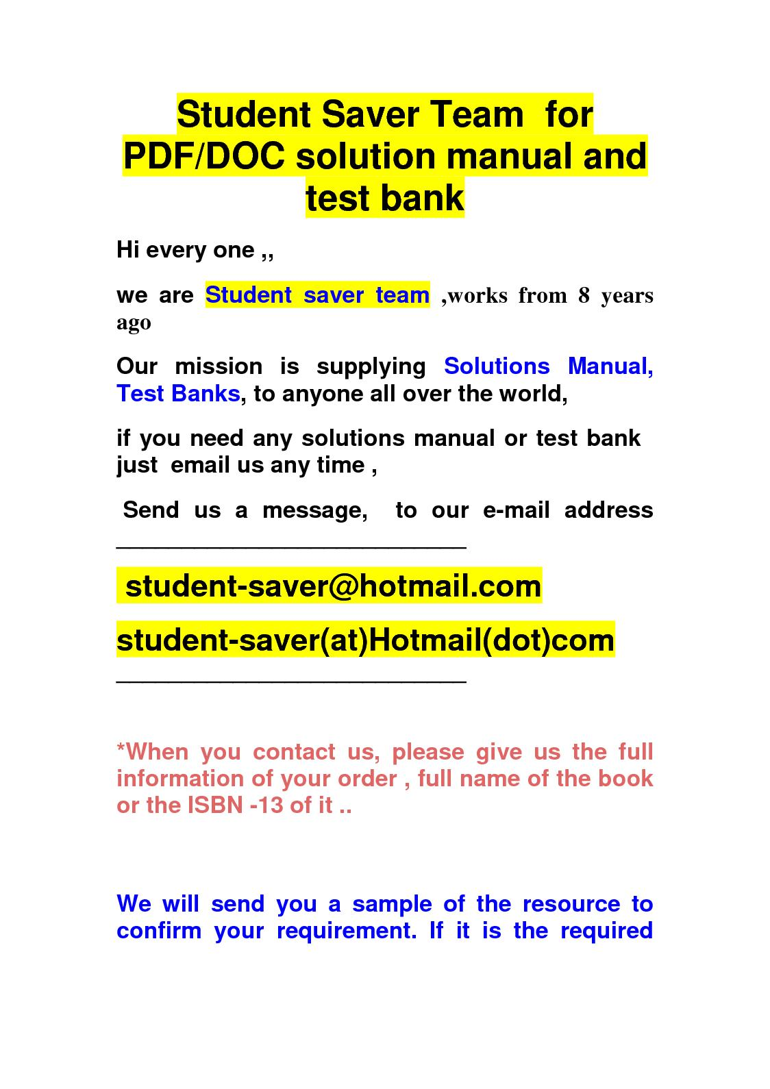 Calaméo - Solution Manual And Test Bank Student Saver Team Small List