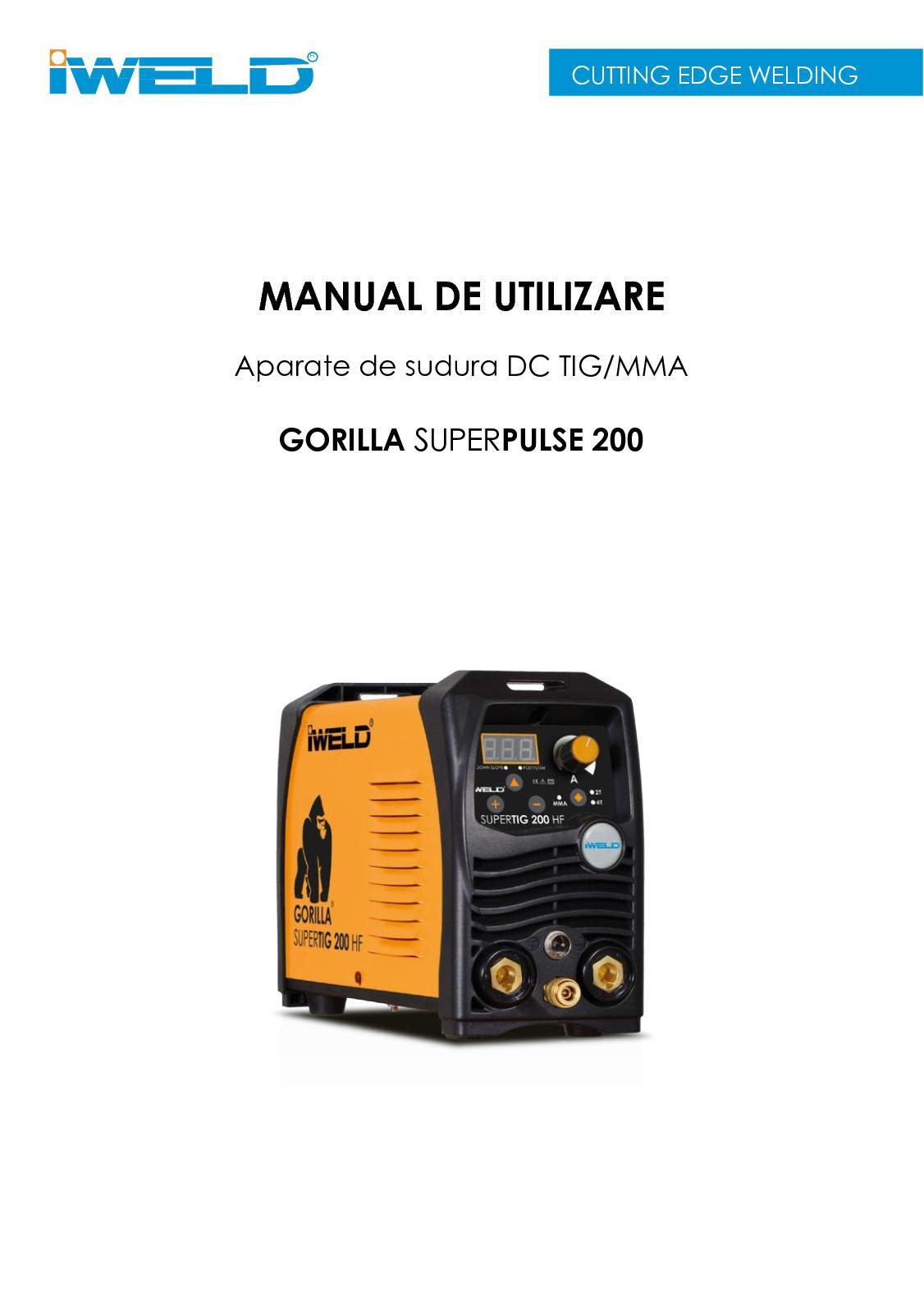 Calaméo - Manual Gorilla Tig Superpulse 200 Ro