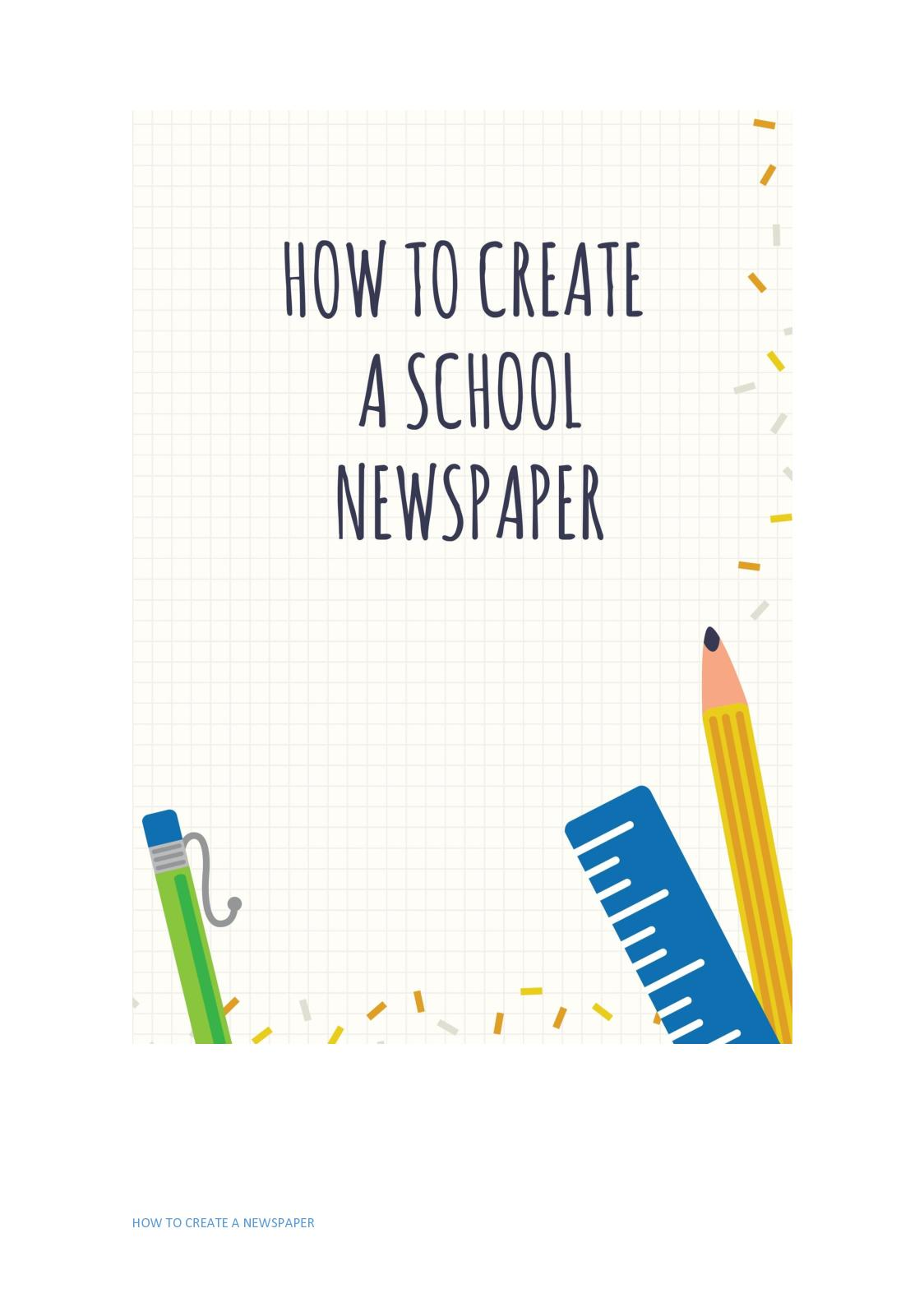 how to create a newspaper