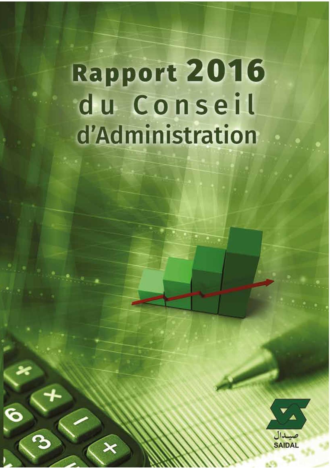 Rapport 2016 du Conseil d'administration