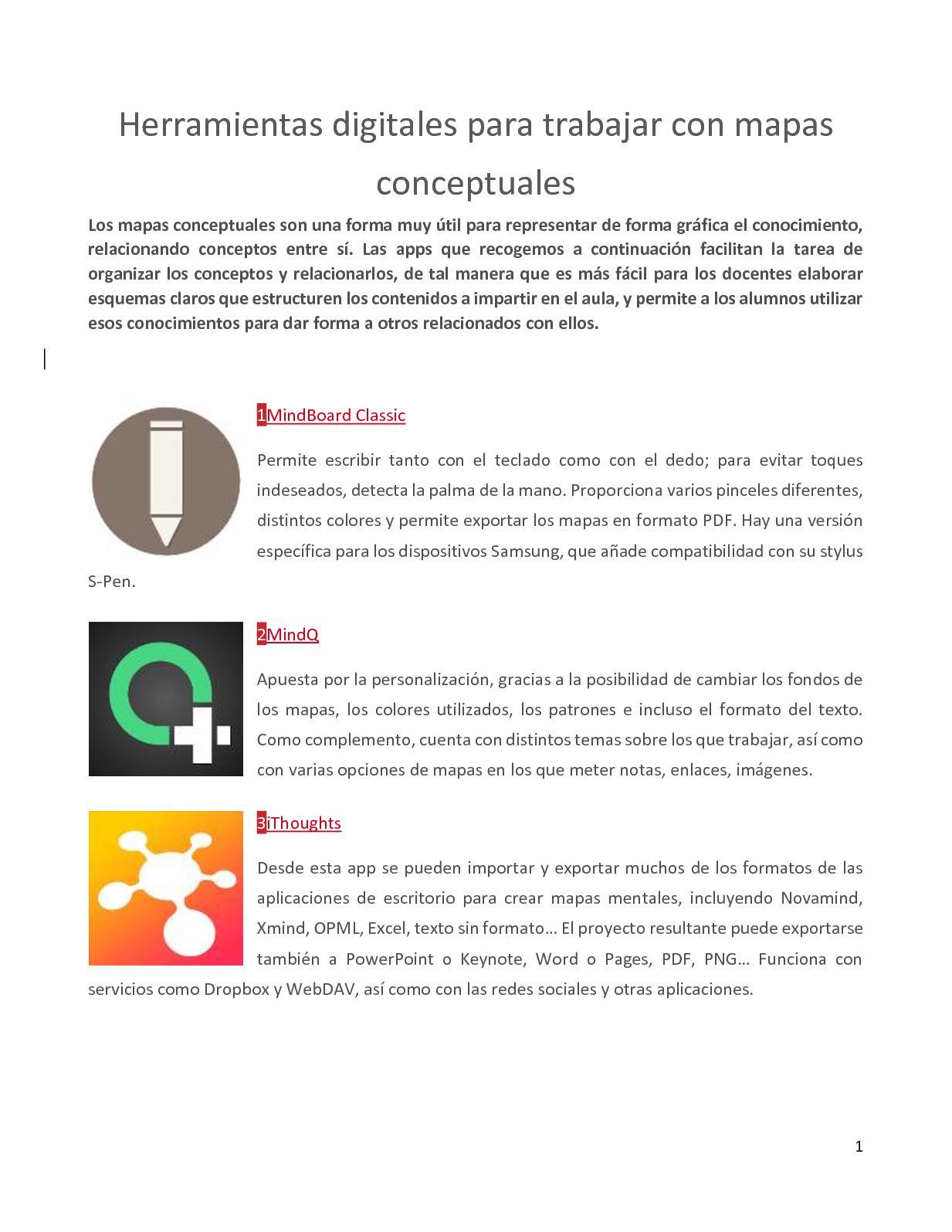 Calaméo - Herramientas Para Crear Mapas Conceptuales
