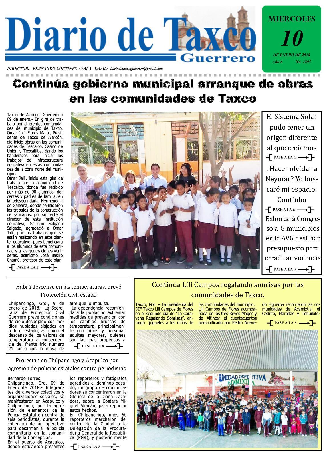 Diario De Taxco 10 1 18