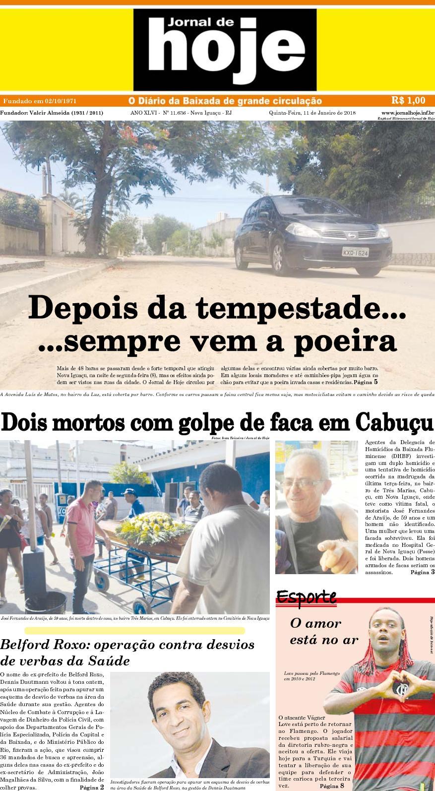 Jornal De Hoje 110118