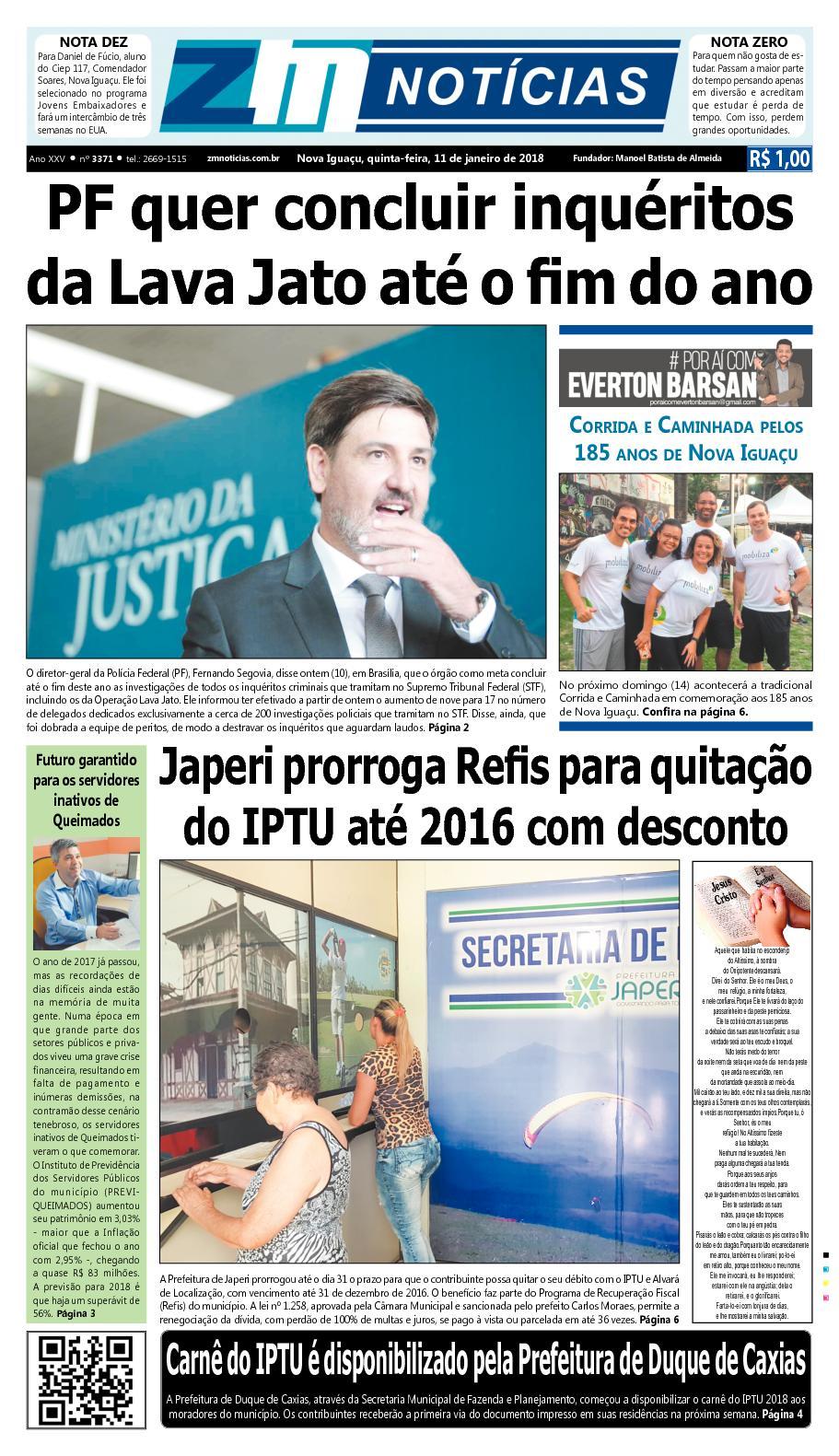 ZM Noticias - Edição 110118