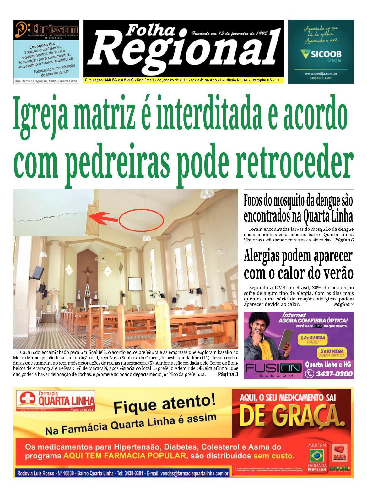 Folha Regional Ed.947 - 12/01/2018