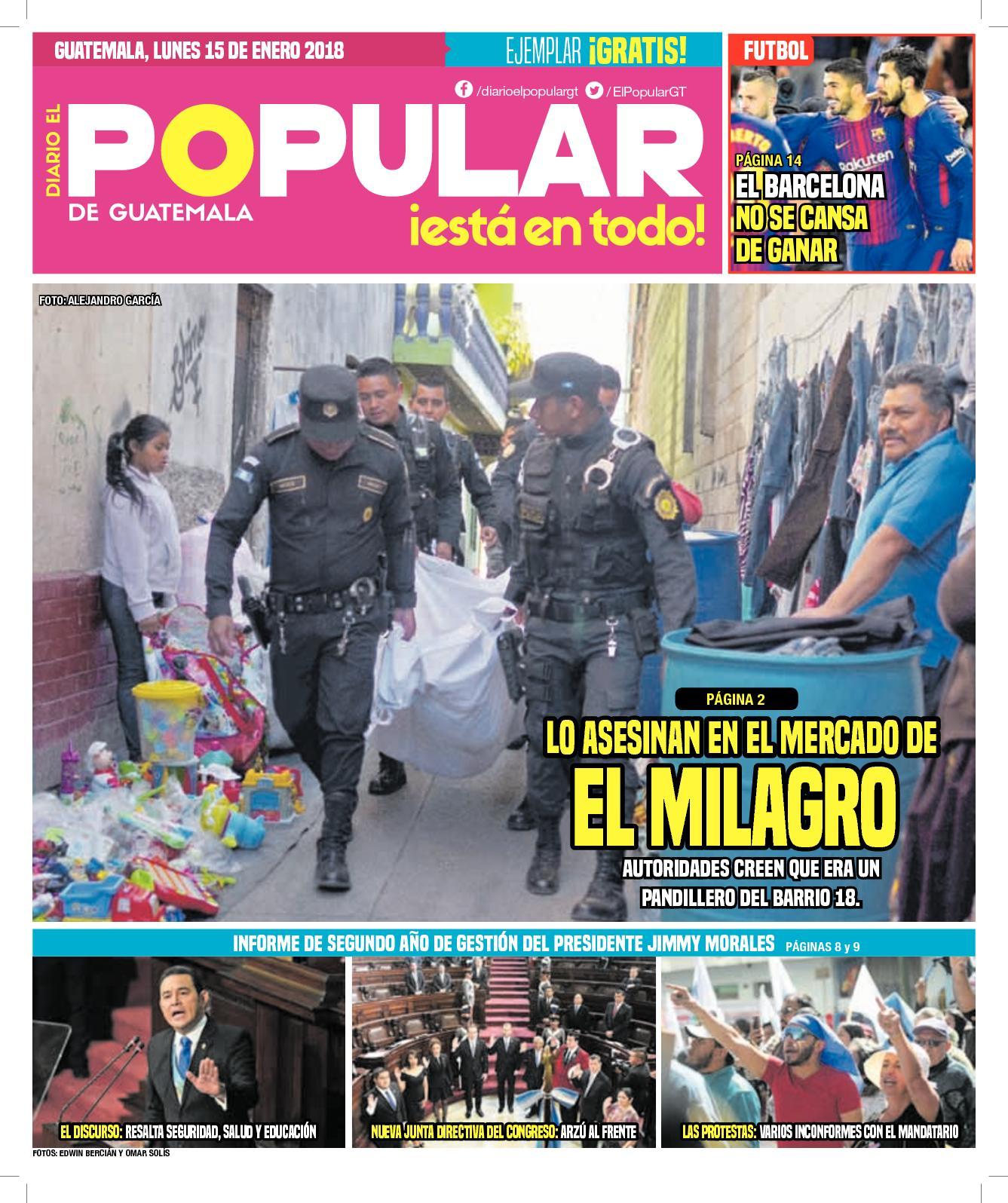 EL POPULAR GUATEMALA 15012018