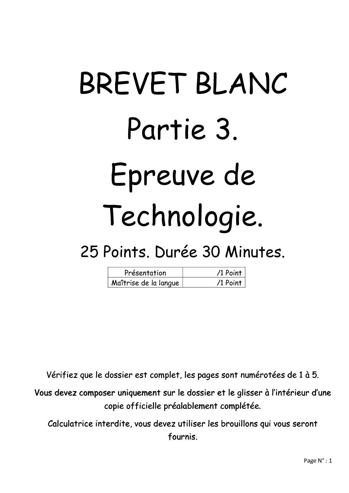 Brevet Blanc Cardiofrequence Metre