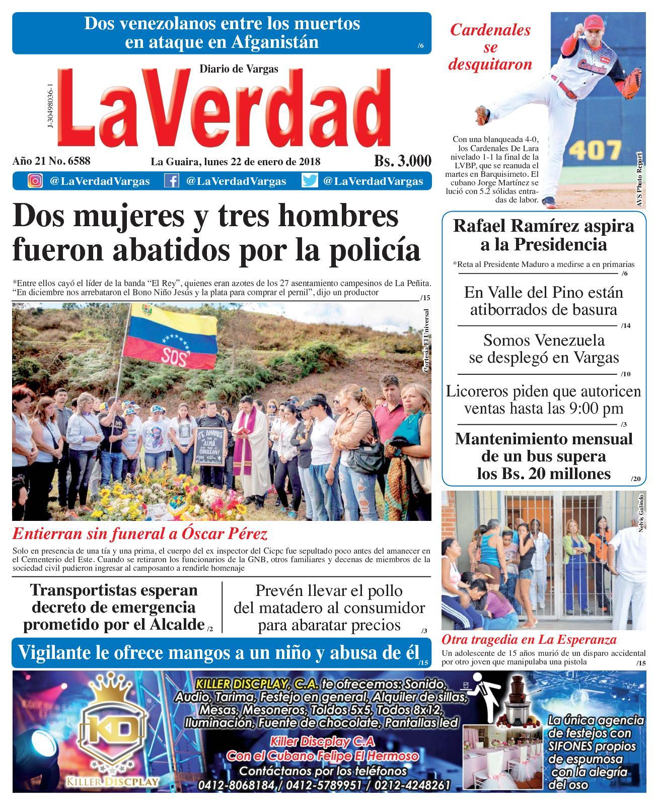Calaméo - La Guaira, lunes 22 de enero de 2018. Año 20 No 6588