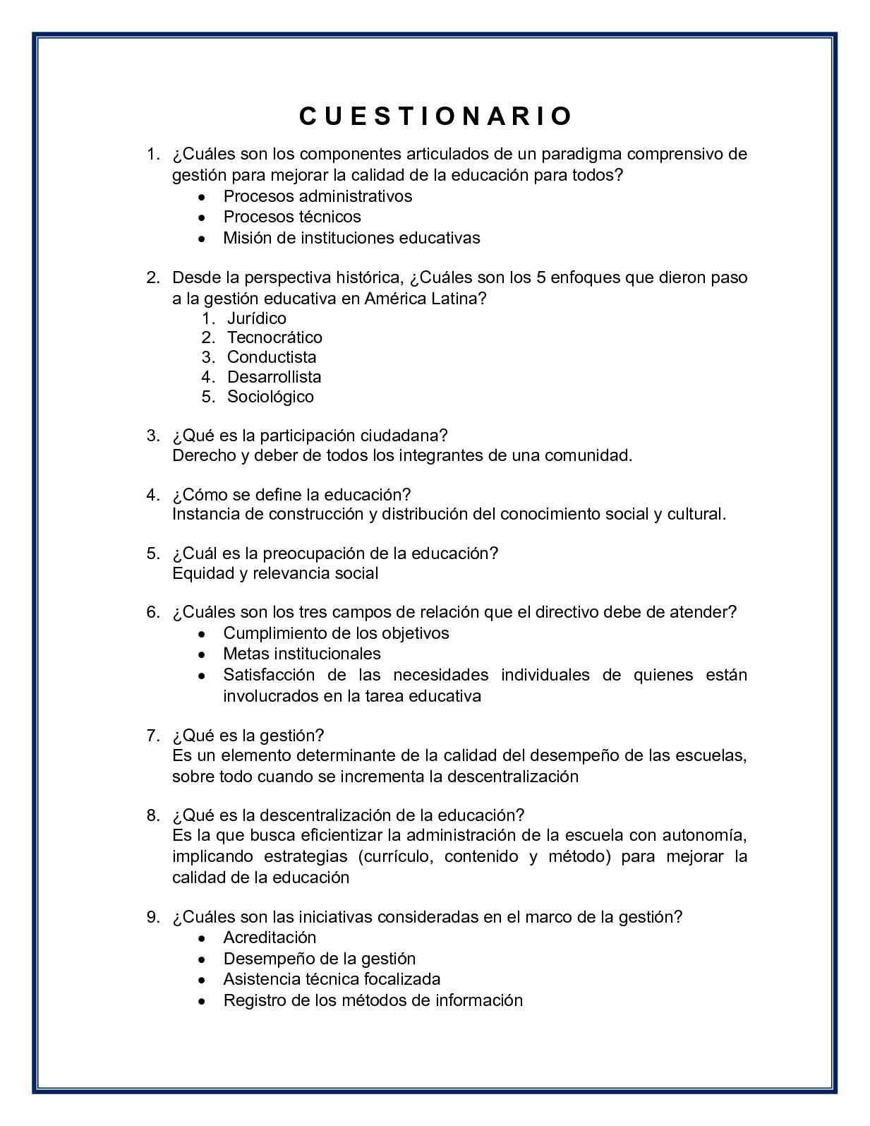 Calaméo - Cuestionario Gestión Educativa