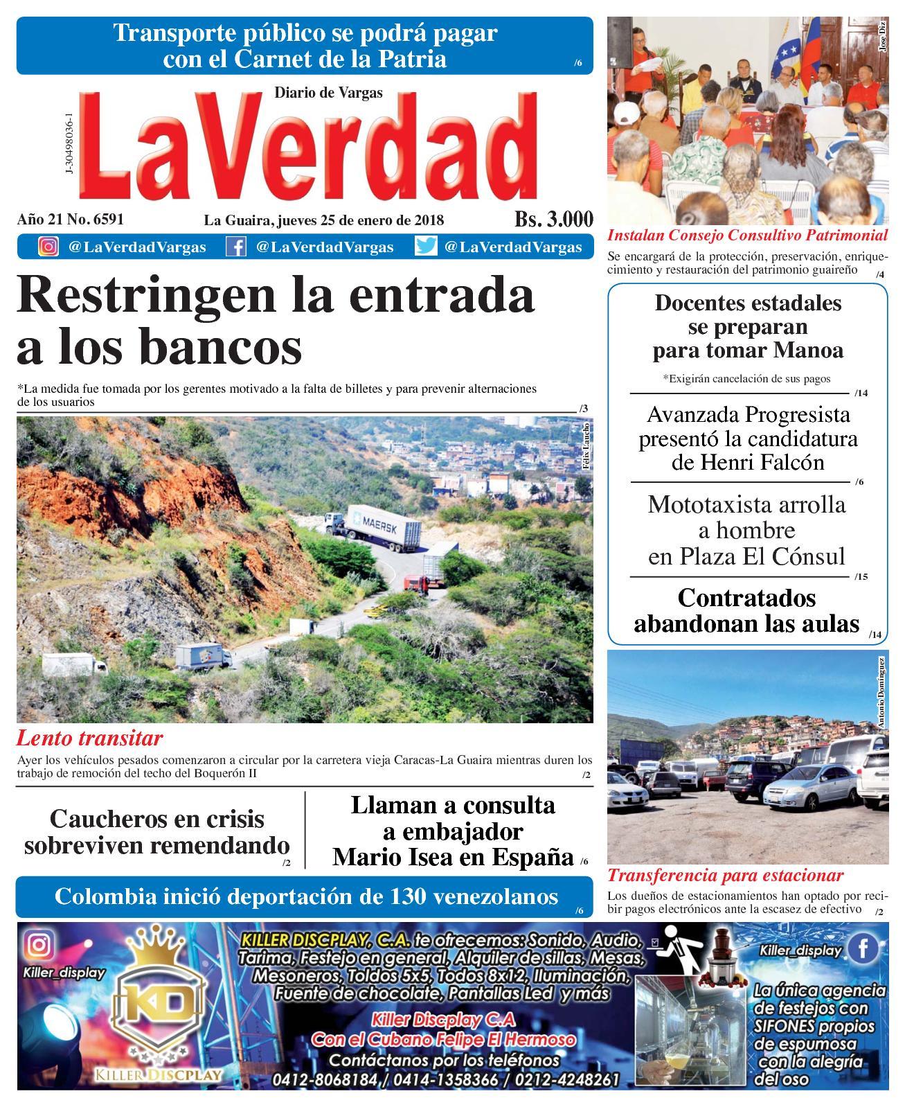Calaméo - La Guaira, jueves 25 de enero de 2018. Año 20 No 6591