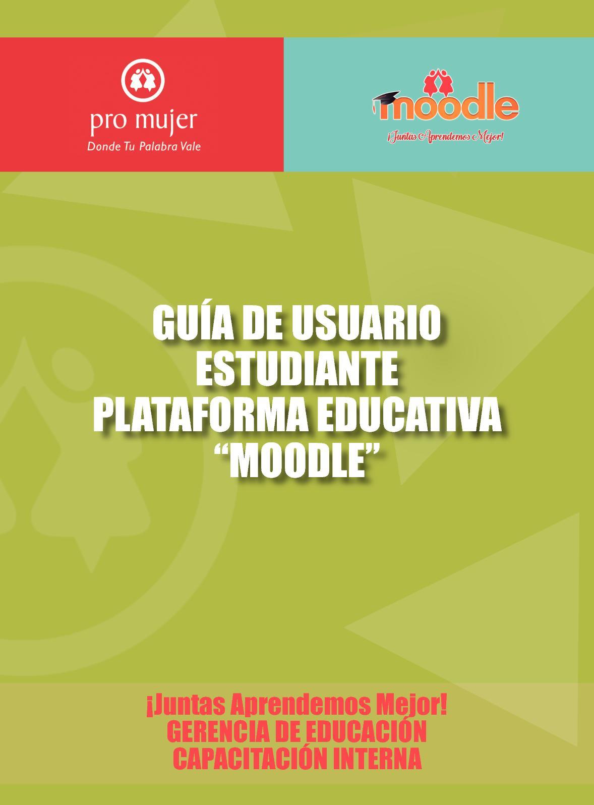 02 Guía De Usuario Estudiante Plataforma Moodle