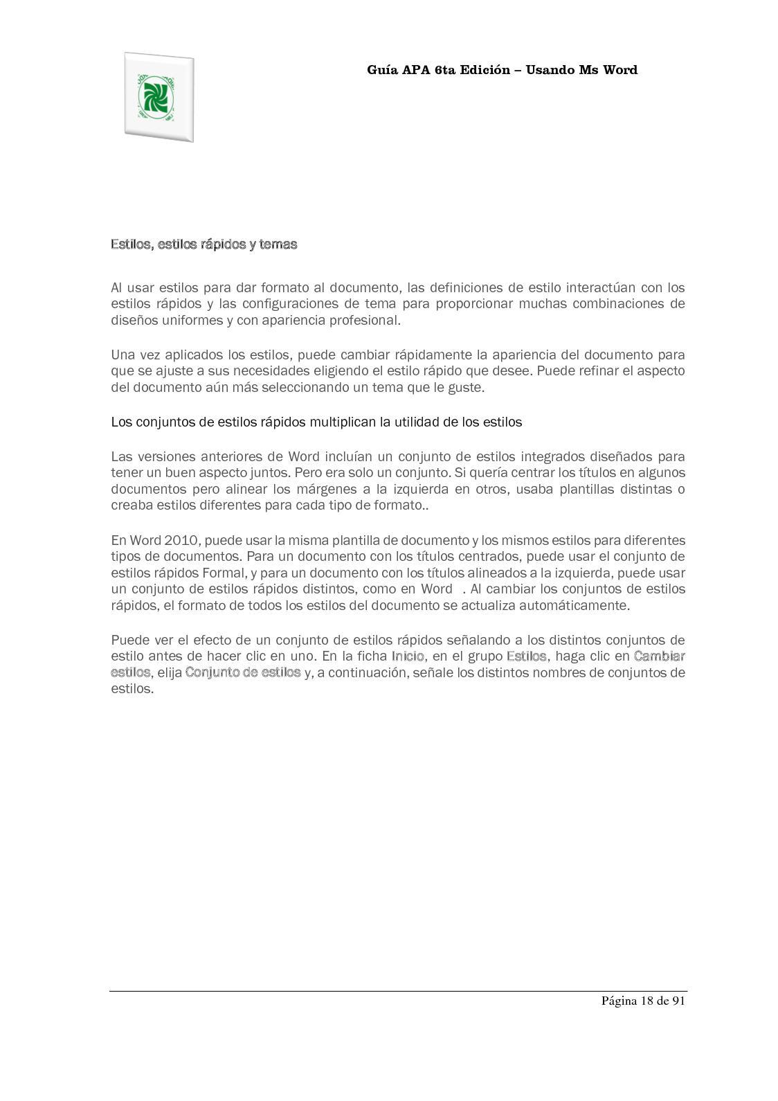 Hermosa Plantilla De Estilo Apa Componente - Ejemplo De Colección De ...
