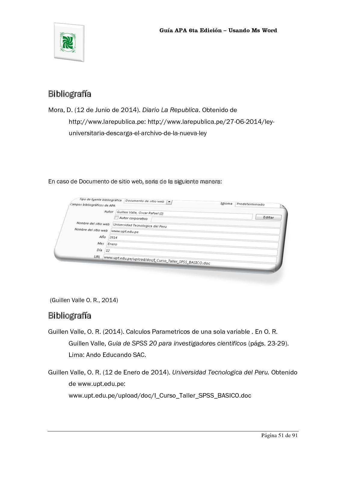 Lujo Apa Plantilla Doc Elaboración - Ejemplo De Colección De ...