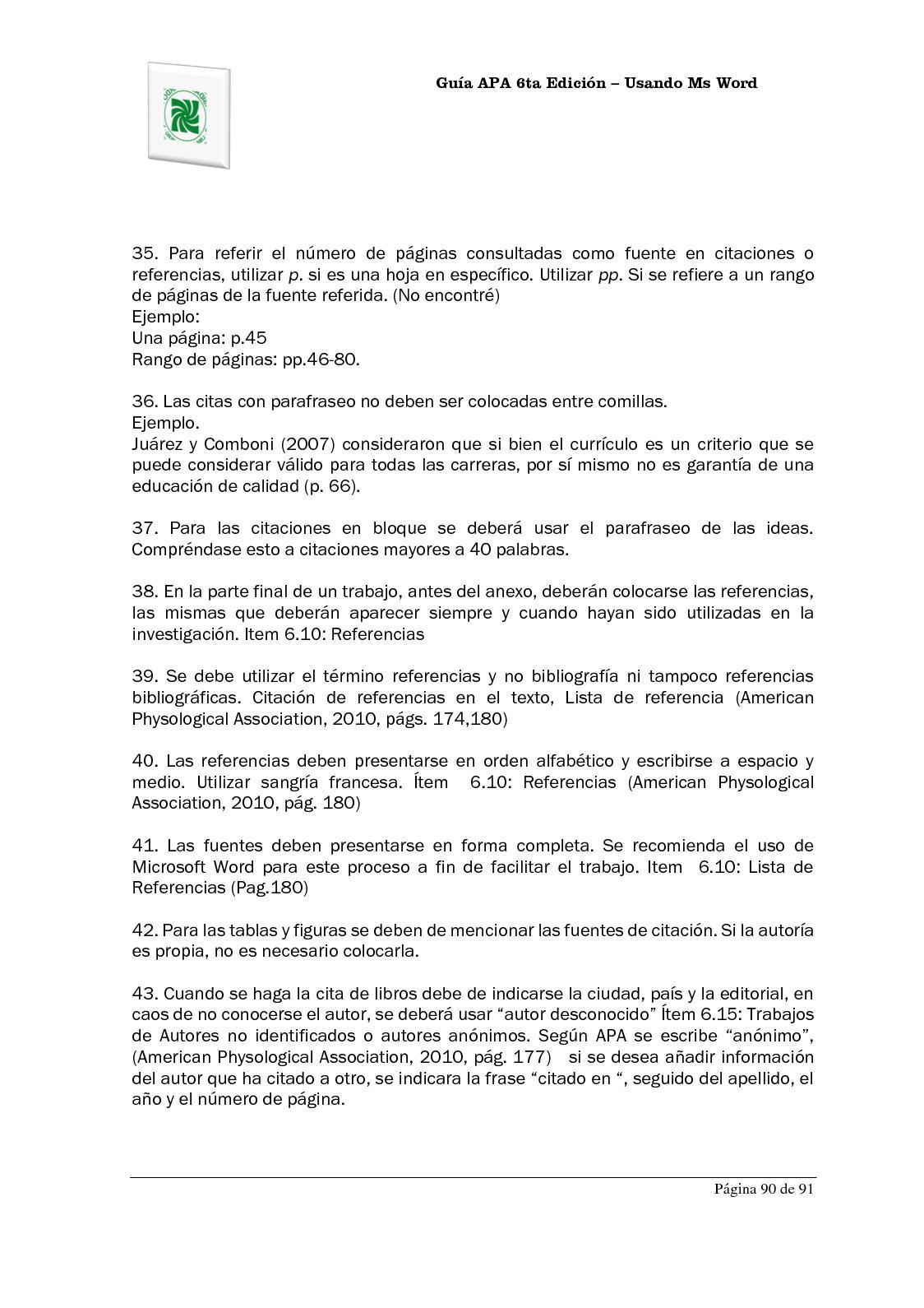 Fantástico Plantilla De Lista De Referencia De Apa Elaboración ...