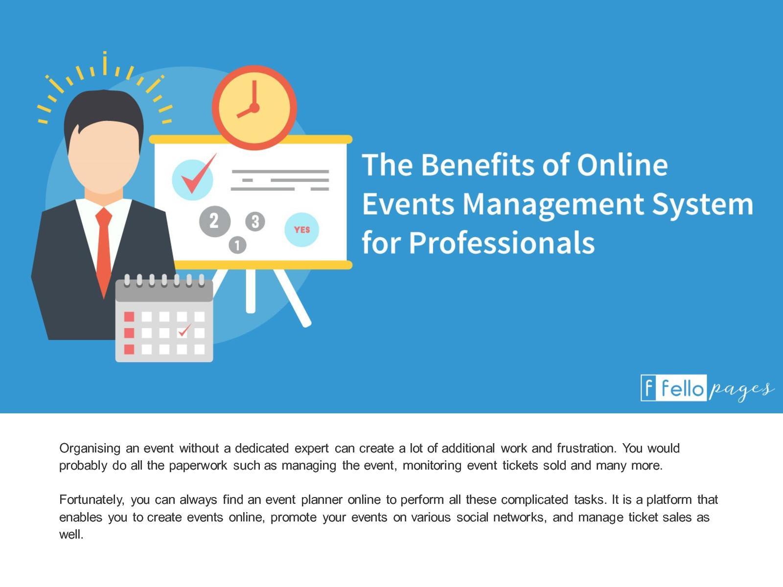 calaméo the benefits of online events management system for