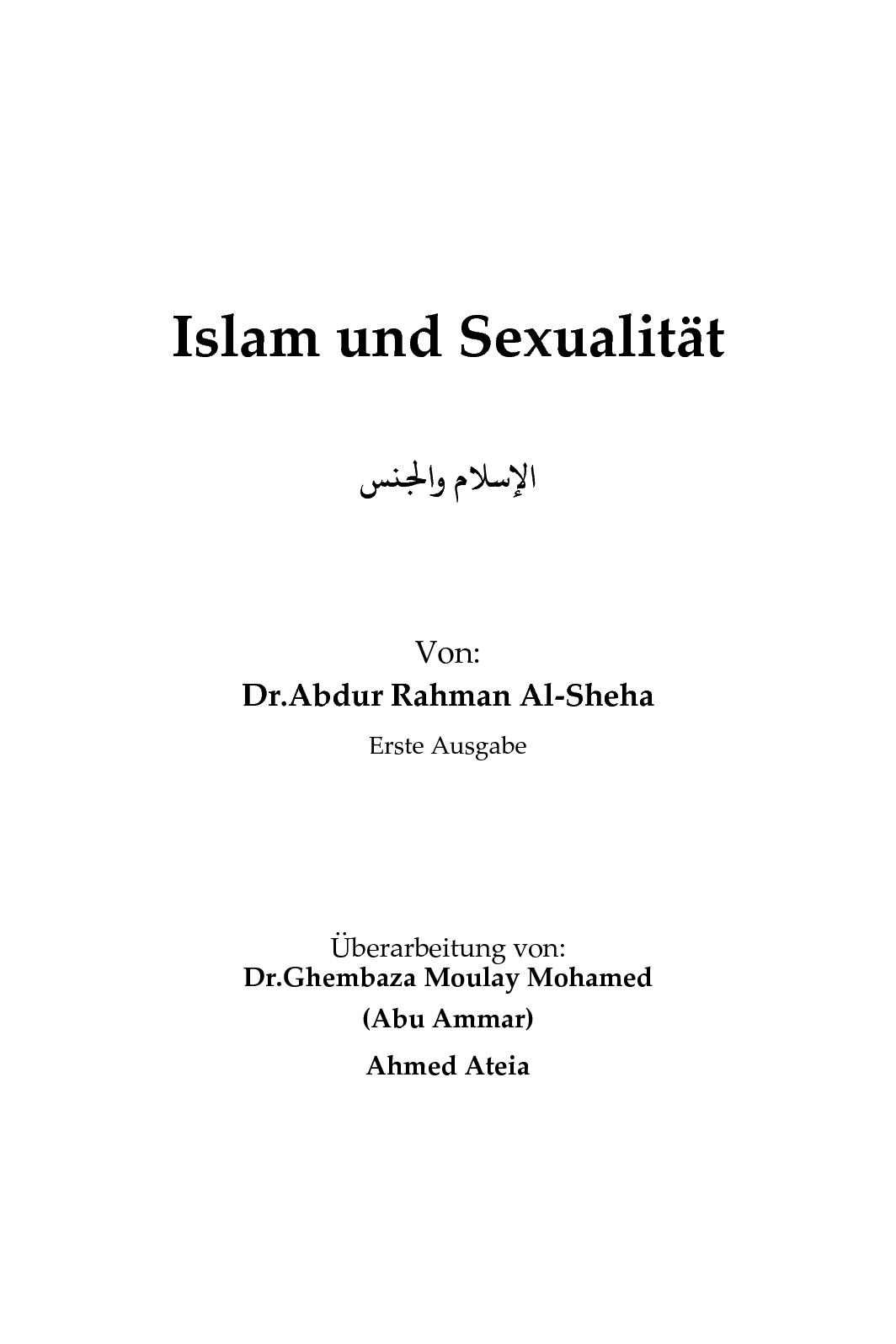 Calaméo - Islam And Sexuality (In German).