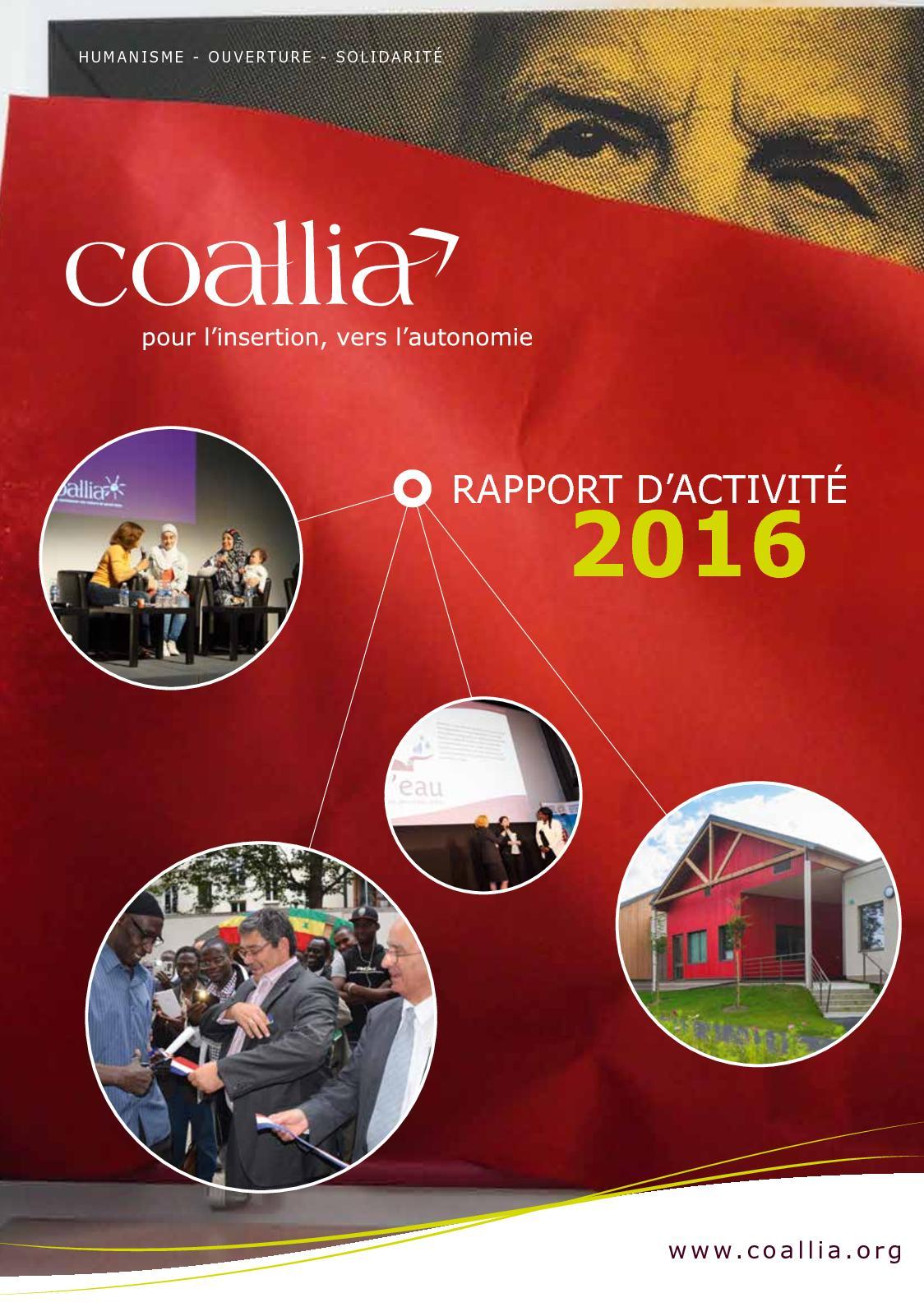 Calameo Rapport D Activite Coallia 2016