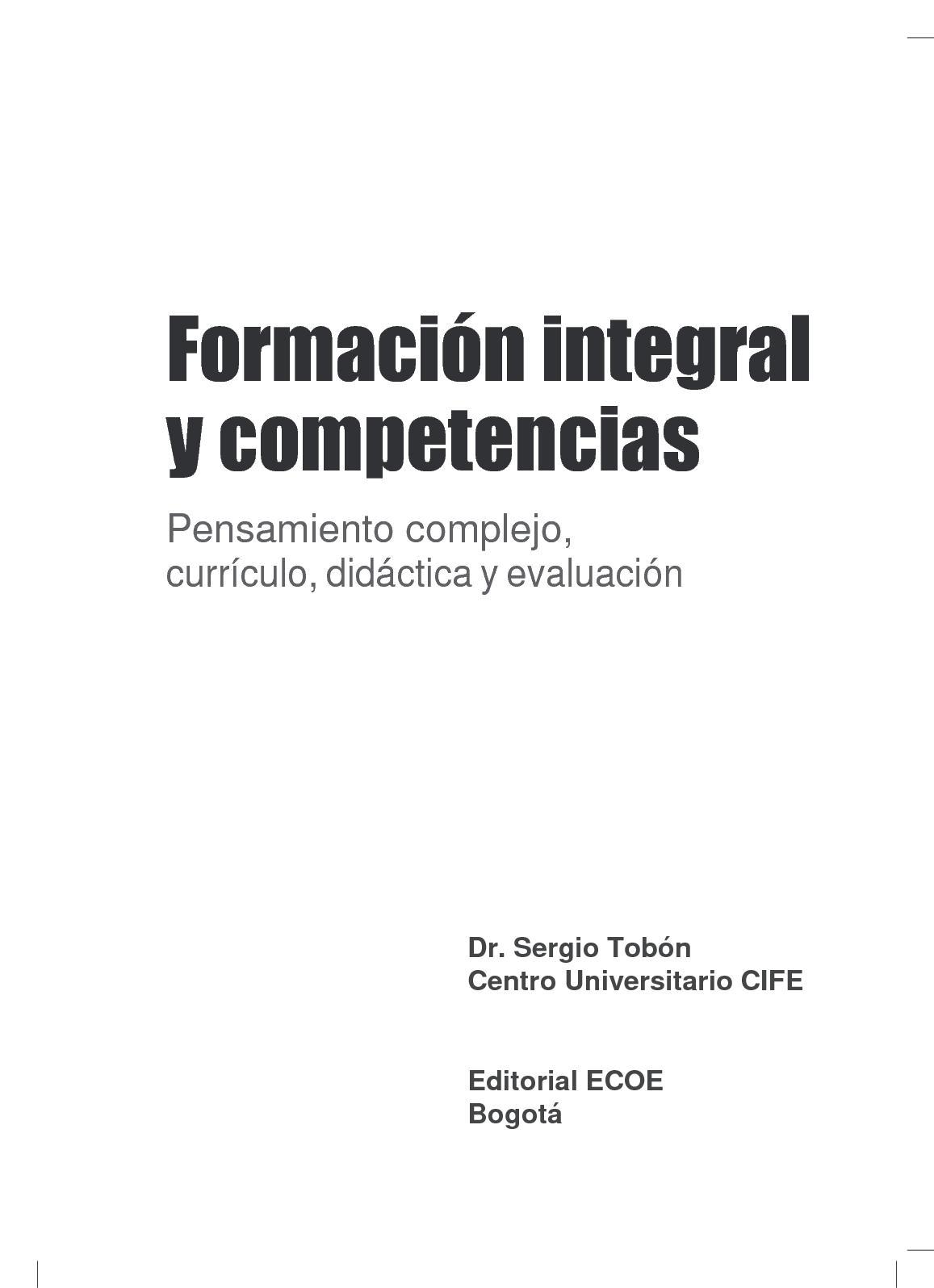Calaméo - Formación Integral Y Competencias; Tobón Tobón, Sergio