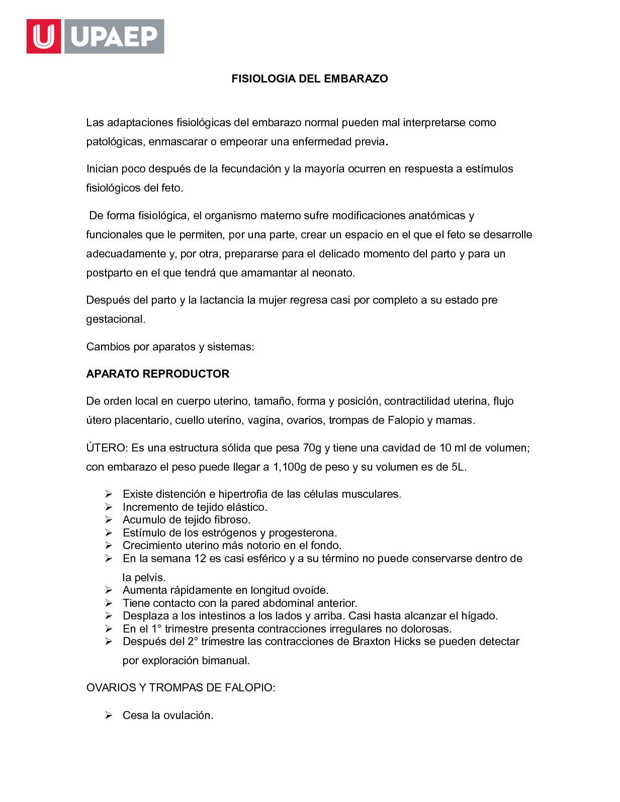 Calaméo - Fisiologia Del Embarazo