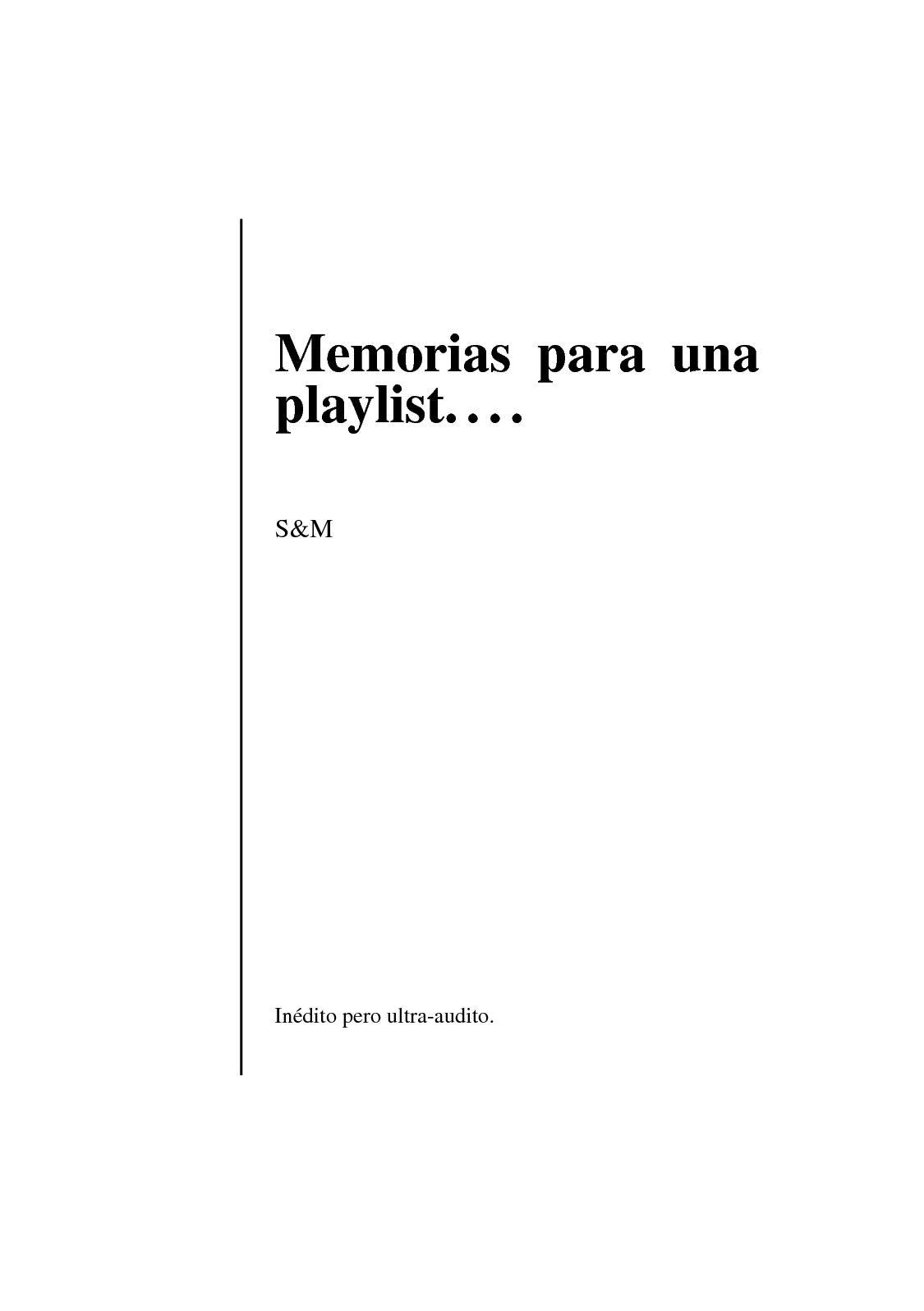 Calaméo - Memorias de una playlist