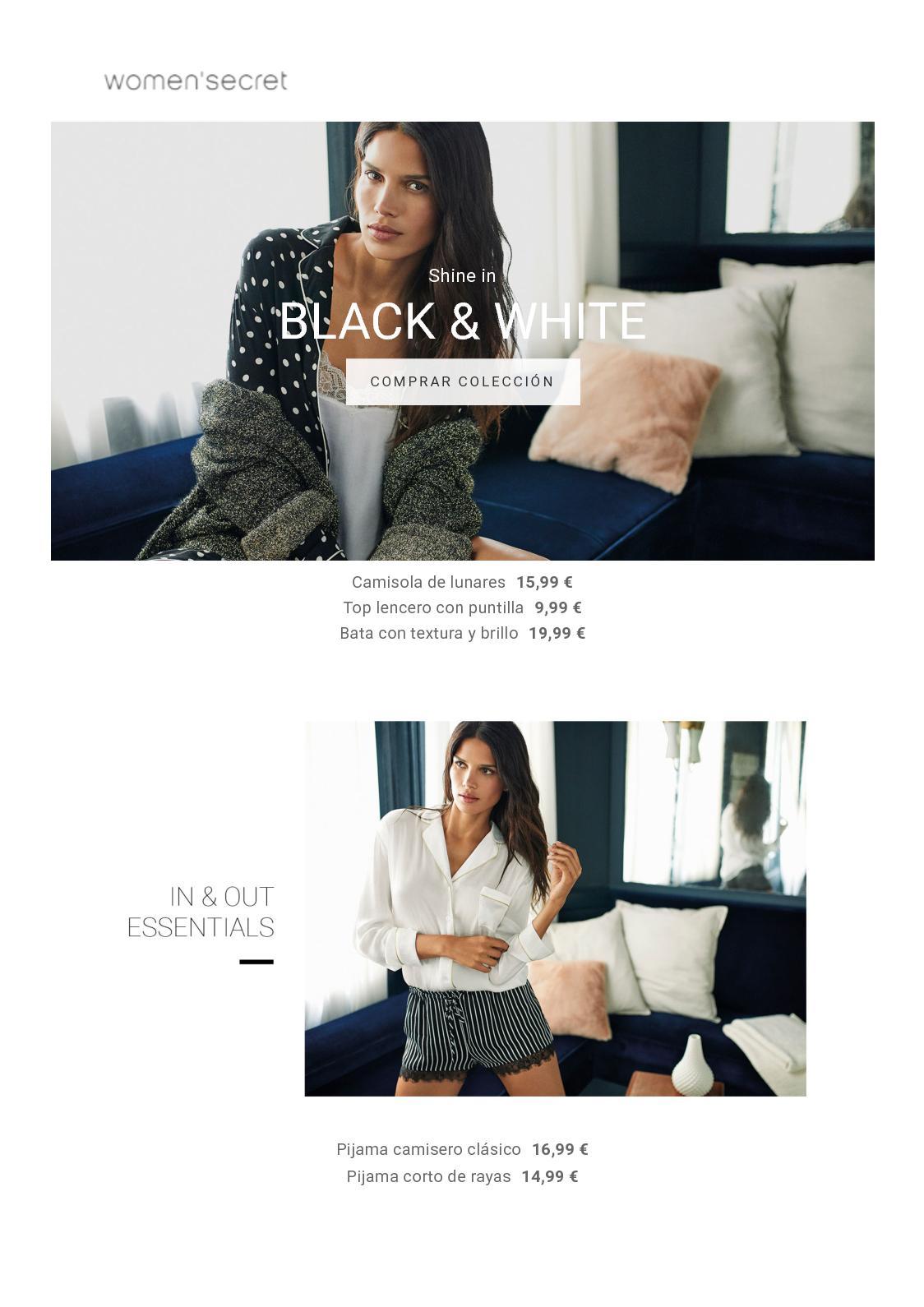 Women'Secret: Black and White