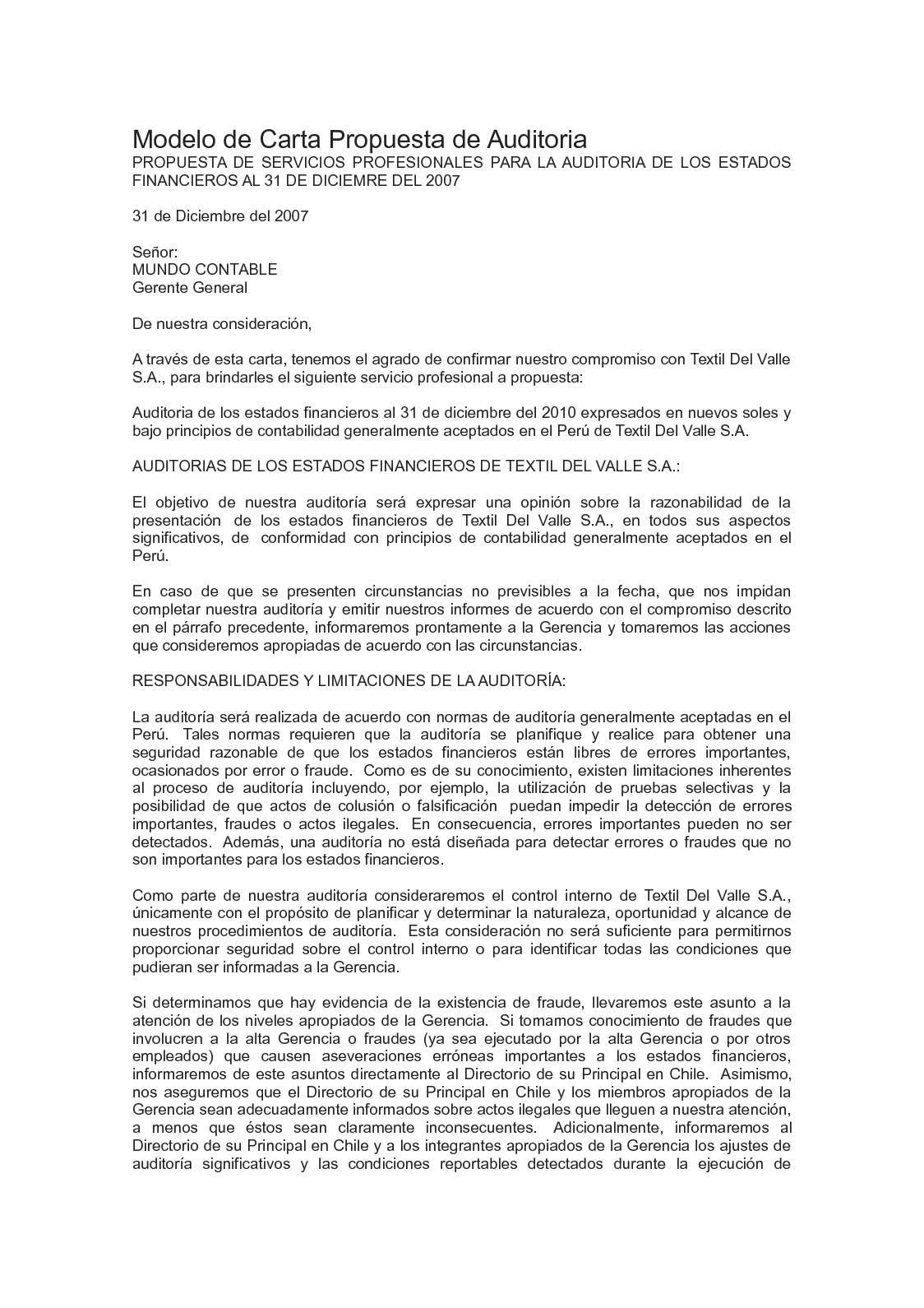 Calaméo - Carta De Auditoria
