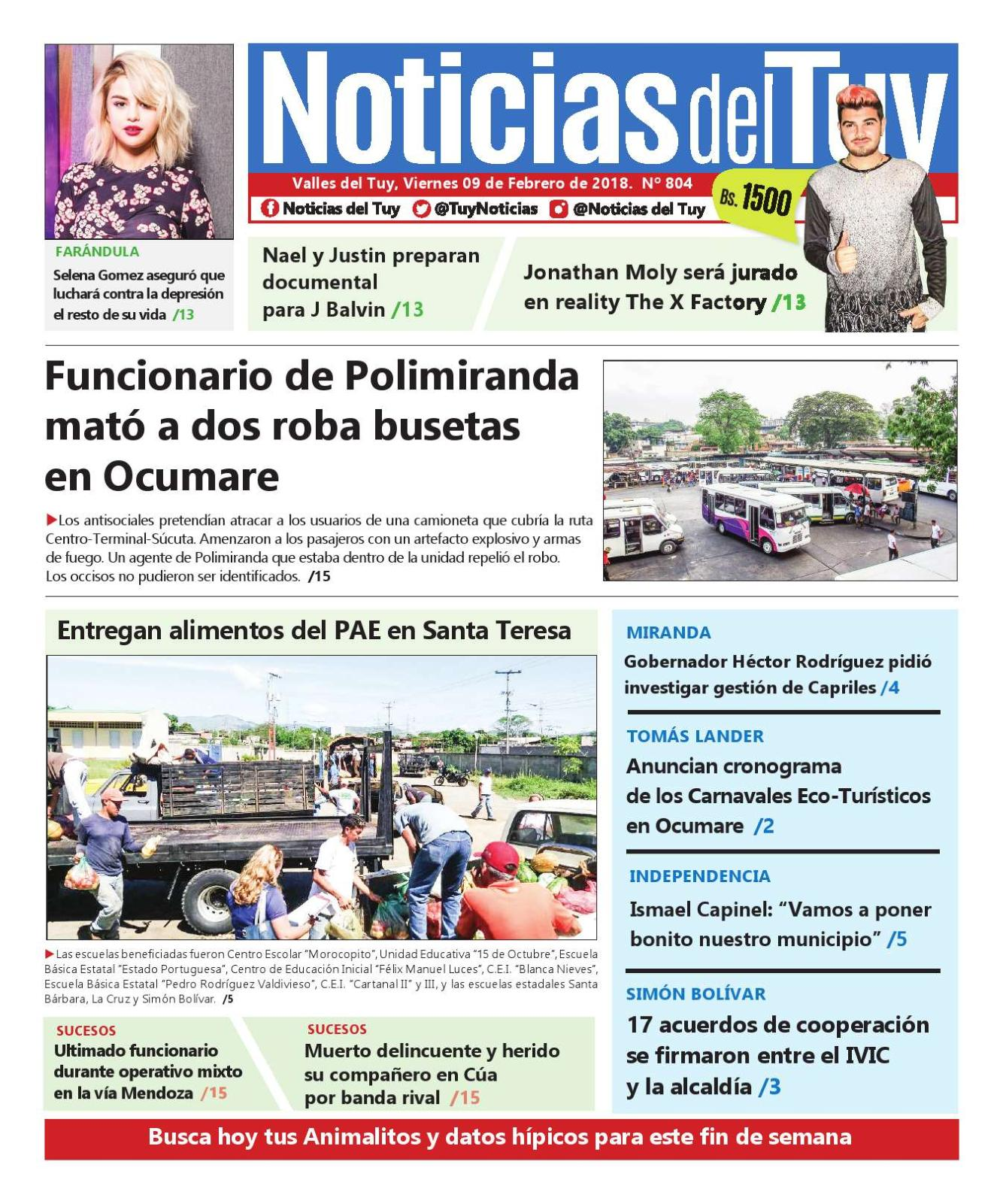 Noticias Del Tuy 9 De Febrero