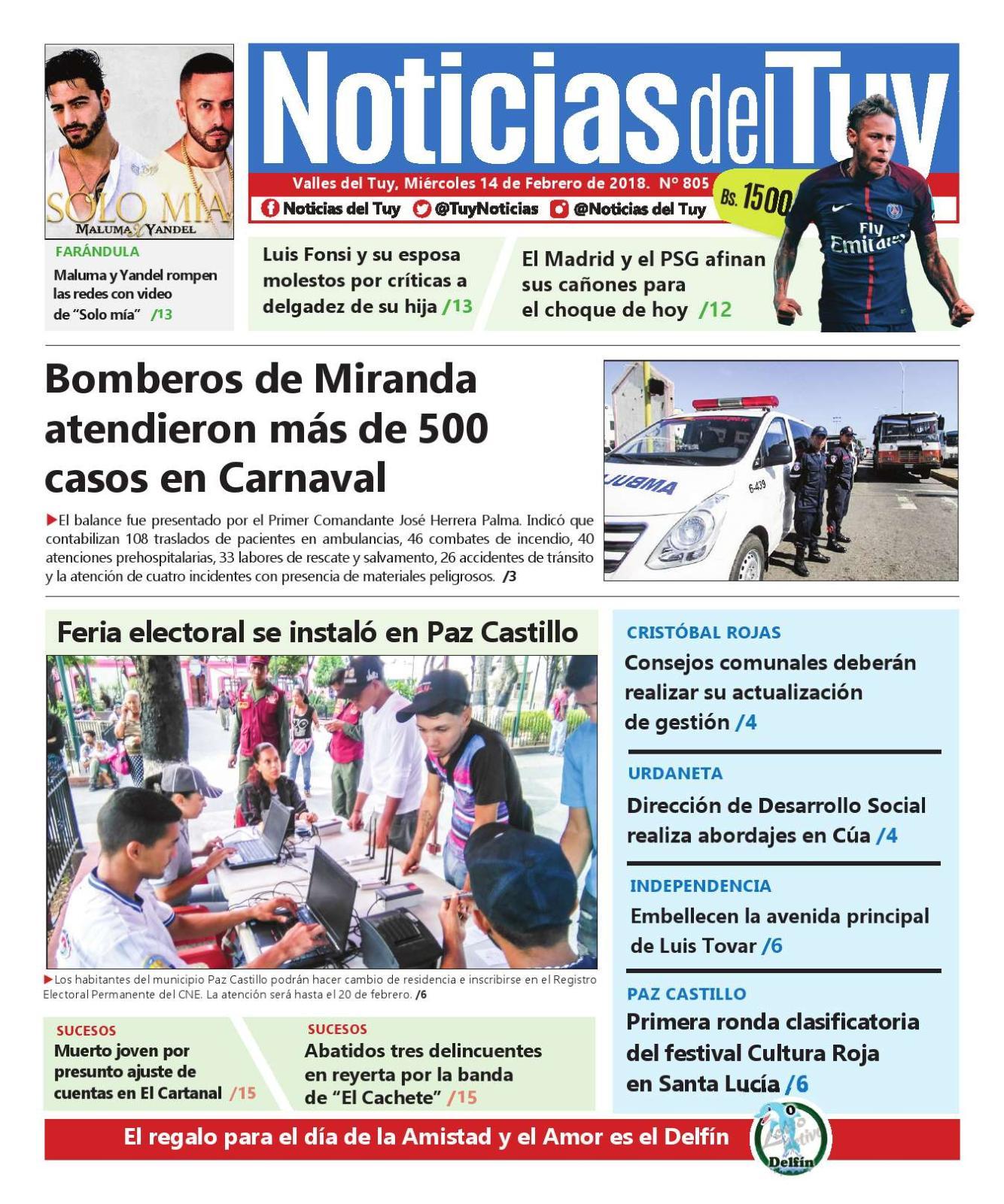 Noticias Del Tuy 14 De Febrero