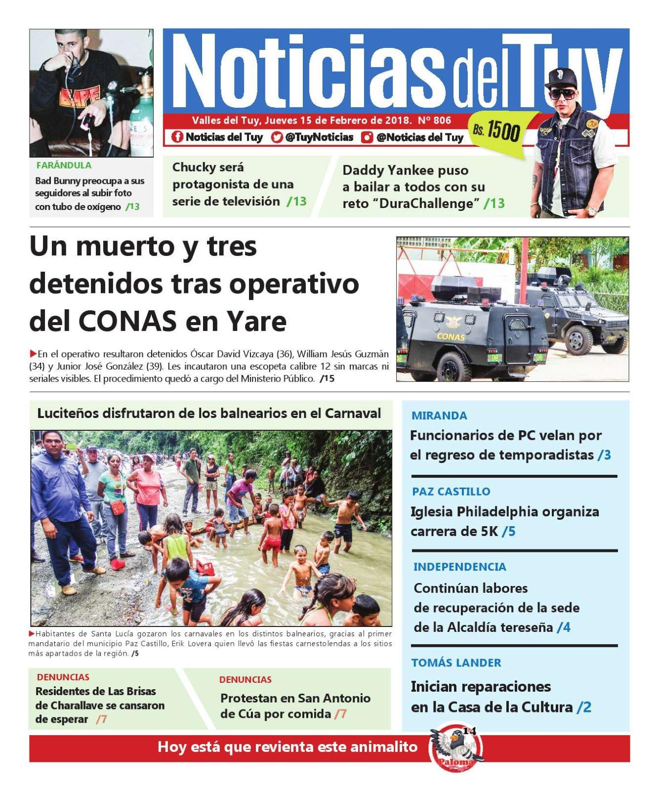 Noticias Del Tuy 15 De Febrero