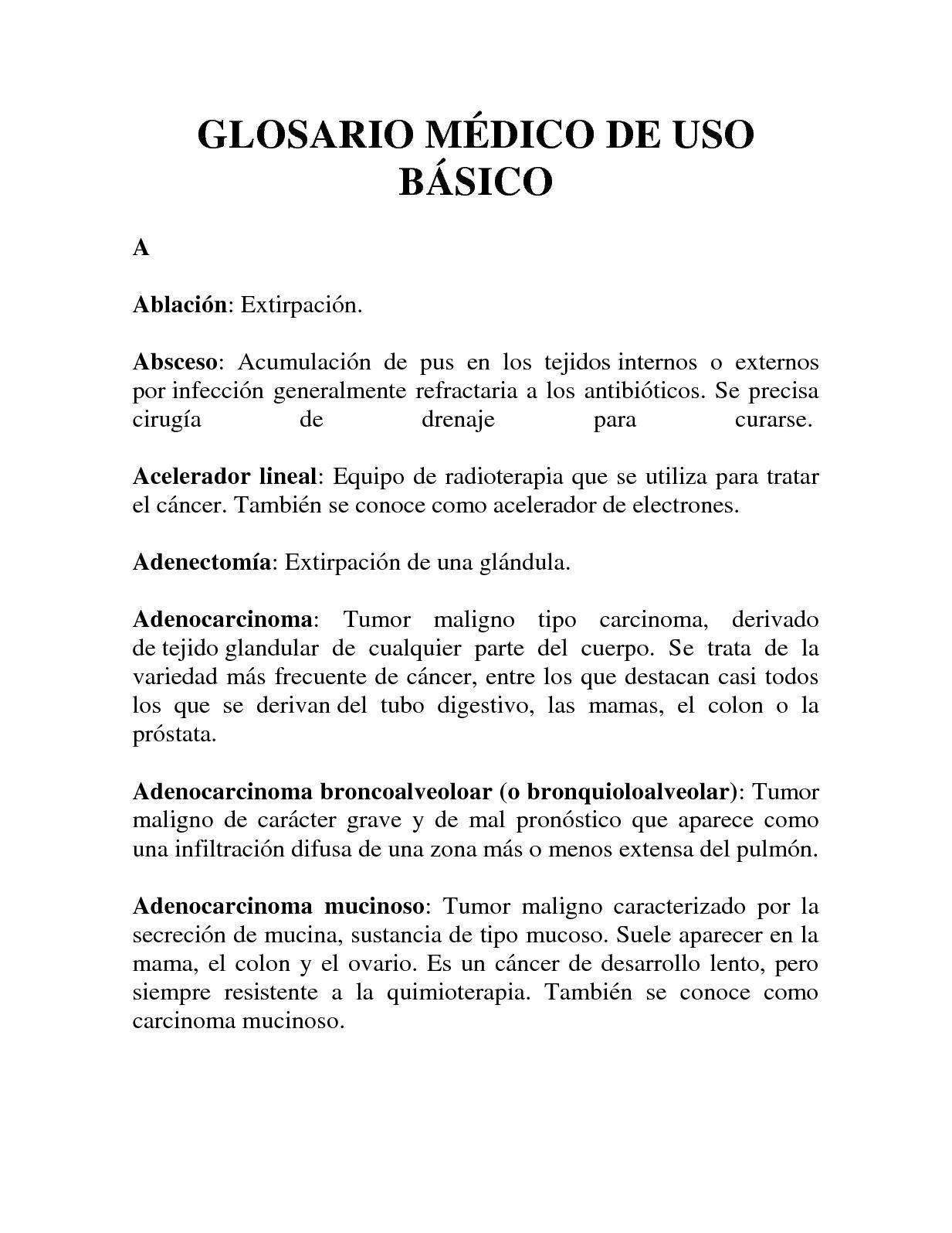 Calaméo - Glosario Médico De Uso Básico