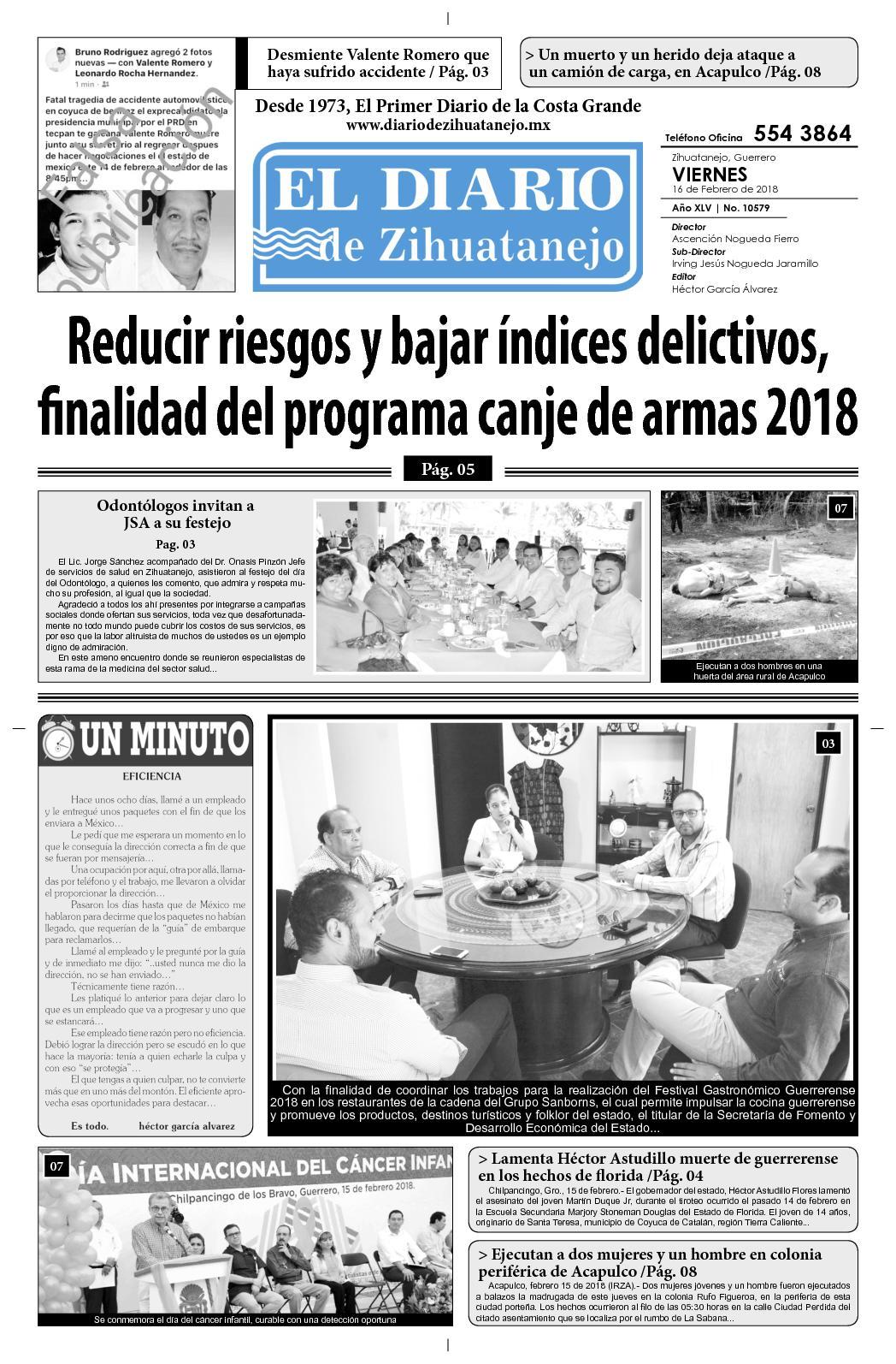 Calaméo - Viernes 16 de Febrero del 2018