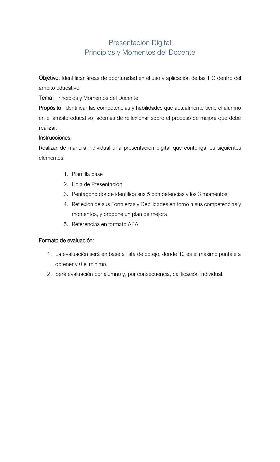 Calaméo - Lista Cotejo Principios Momentos