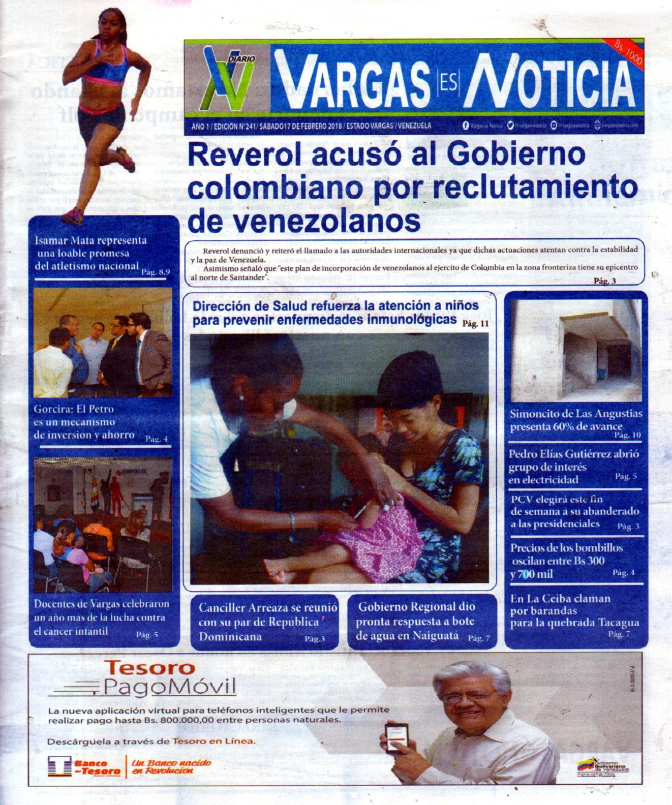 Vargas es Noticia, sábado 17  de febrero de 2018 N° 241