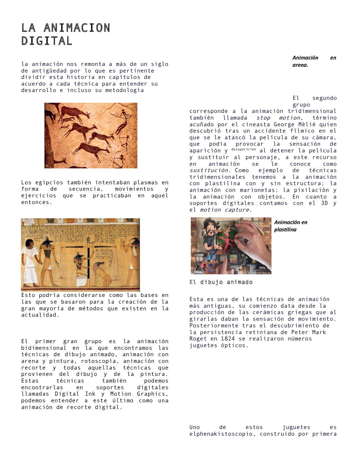 Historia De La Animacion Digital