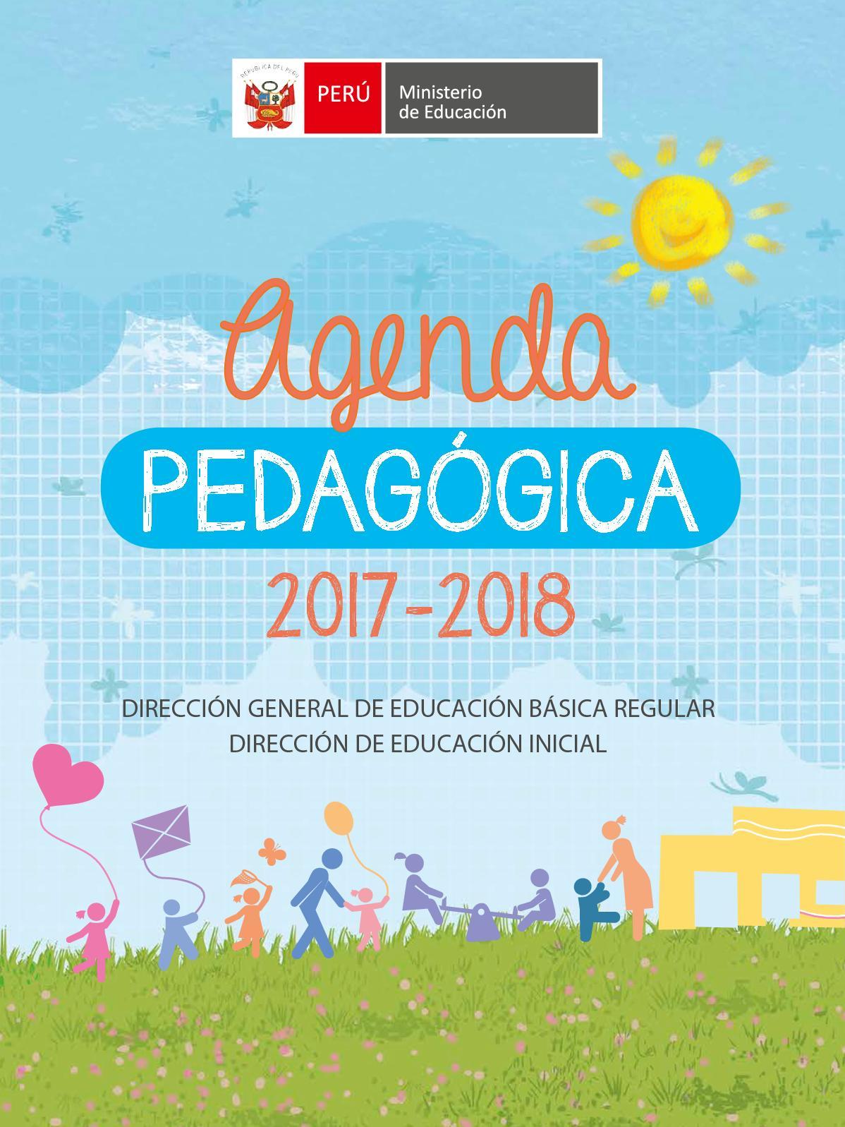 Calaméo - Agenda Pedagógica 2017 2018 Para Docentes De Ii Ciclo De ...