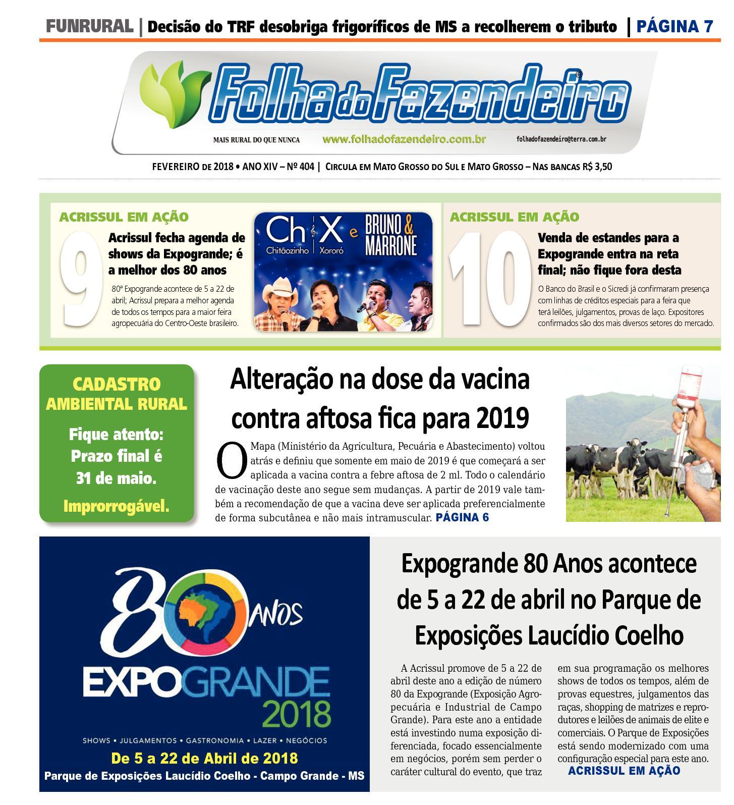 4141f0b161bf5 Calaméo - Folha do Fazendeiro Fevereiro 2018