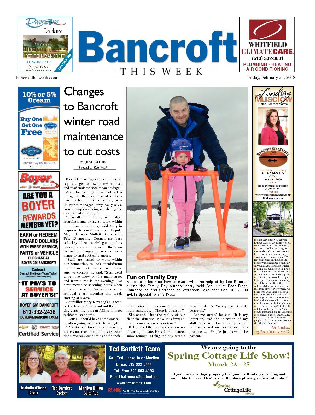 Calaméo - Bancroft This Week Feb 23, 2018