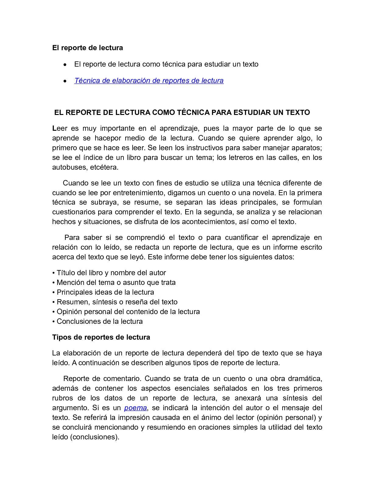 Calaméo - COMO HACER UN REPORTE DE LECTURA