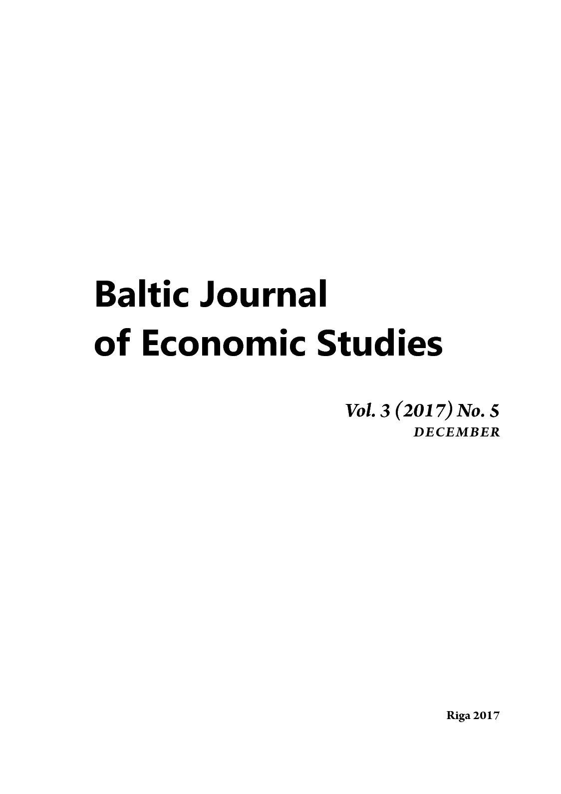 Baltic Journal Of Economic Studies № 5 2017 1